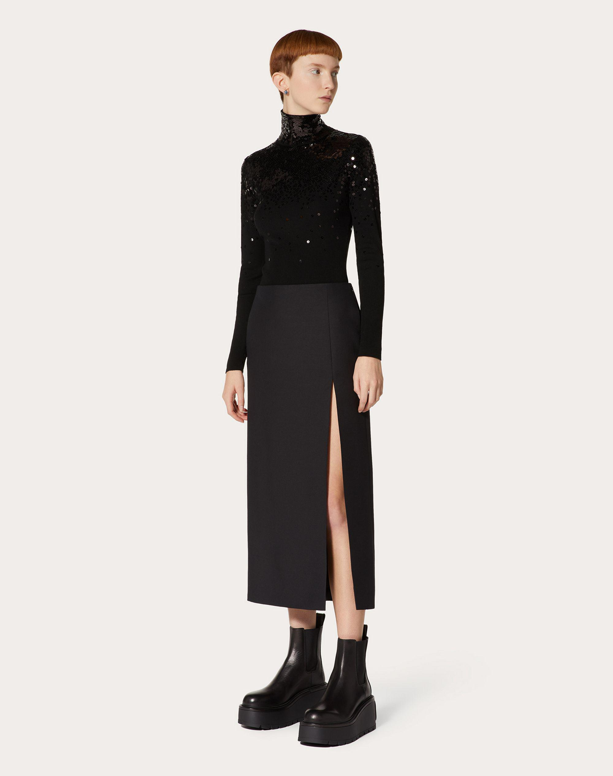 Crepe Couture Pencil Skirt