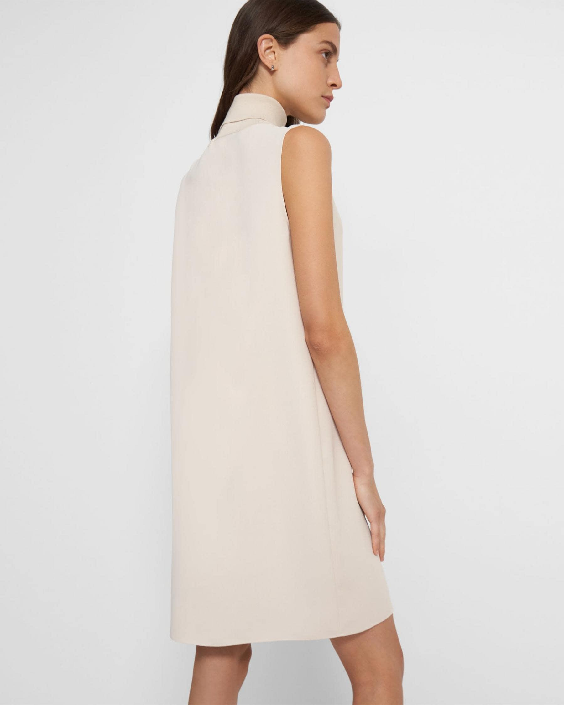 Roll Neck Dress in Crepe 3