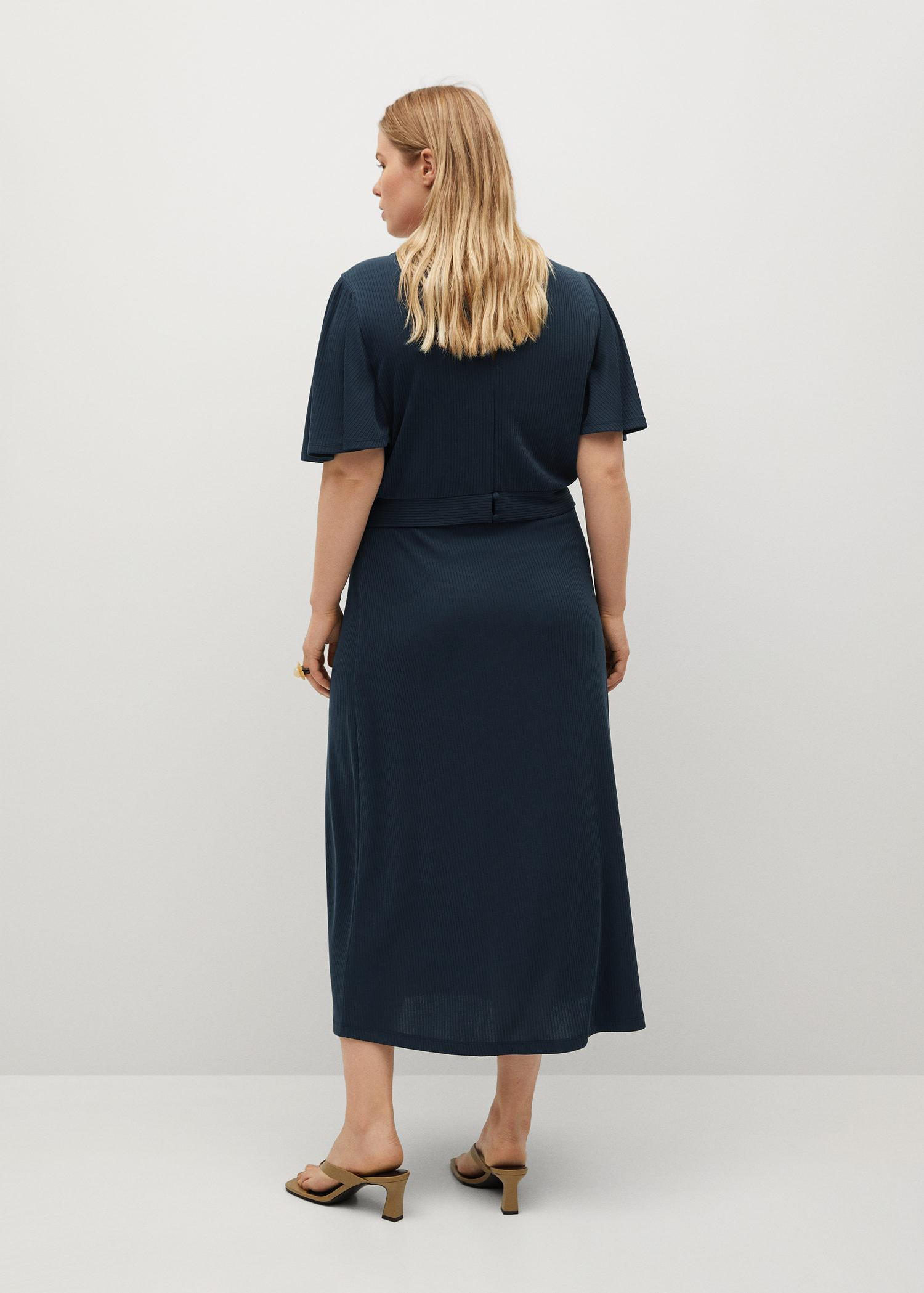 Buttoned ribbed skirt 2