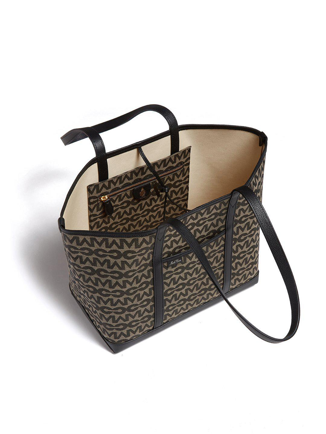 The Essentials Upcycled MC Jacquard & Leather Tote Bag 5