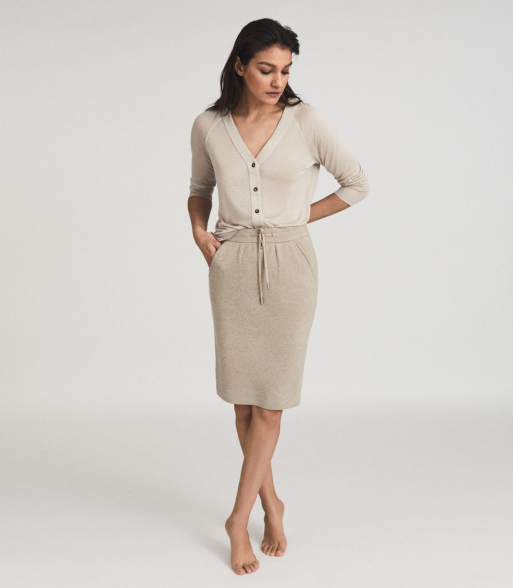 CONNIE - KNITTED MIDI SKIRT