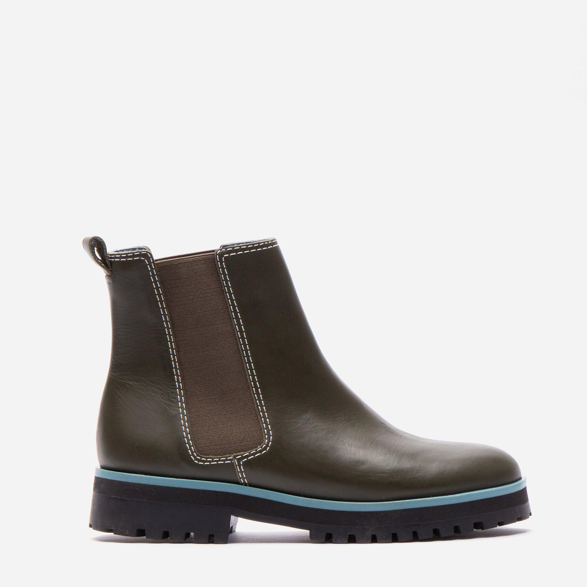 Frank Leather Chelsea Lug Boot Loden