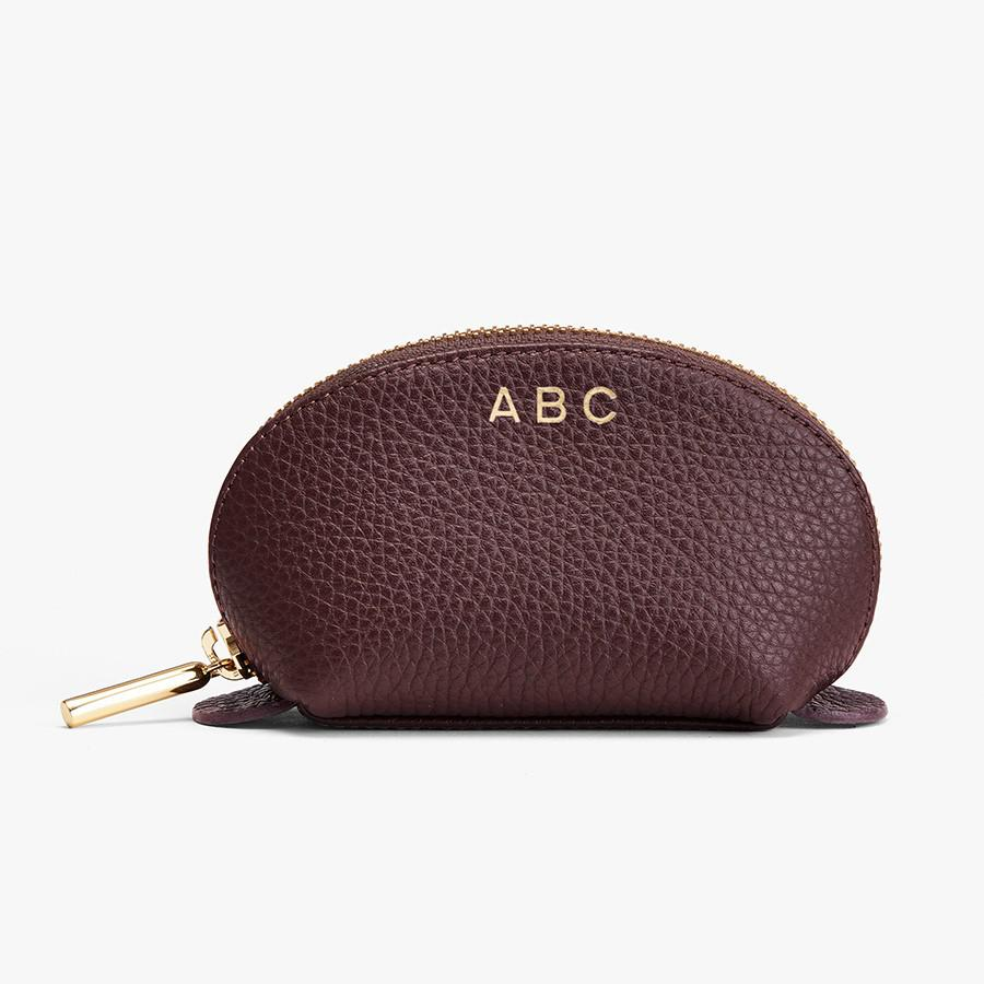 Women's Mini Travel Case in Burgundy | Pebbled Leather by Cuyana 2