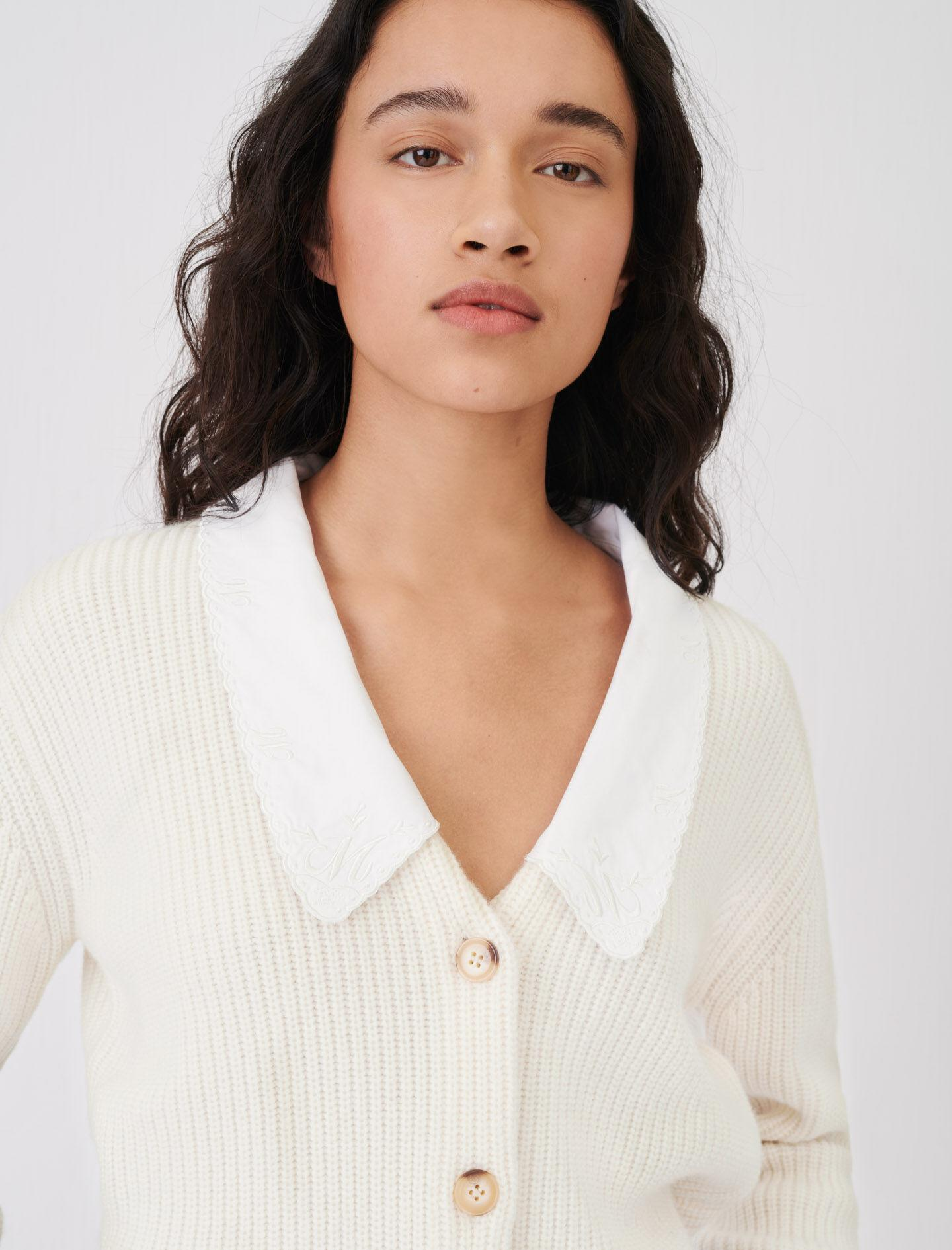 CROPPED CARDIGAN WITH LARGE COLLAR 2