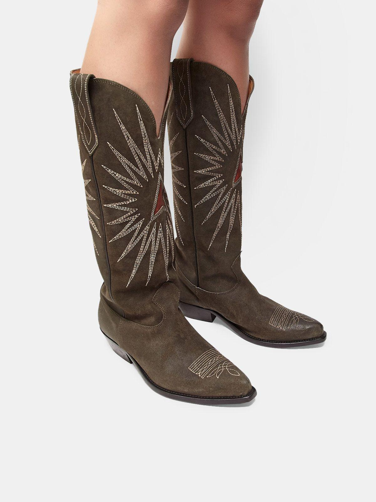 Wish Star boots in leather with Western decoration 4