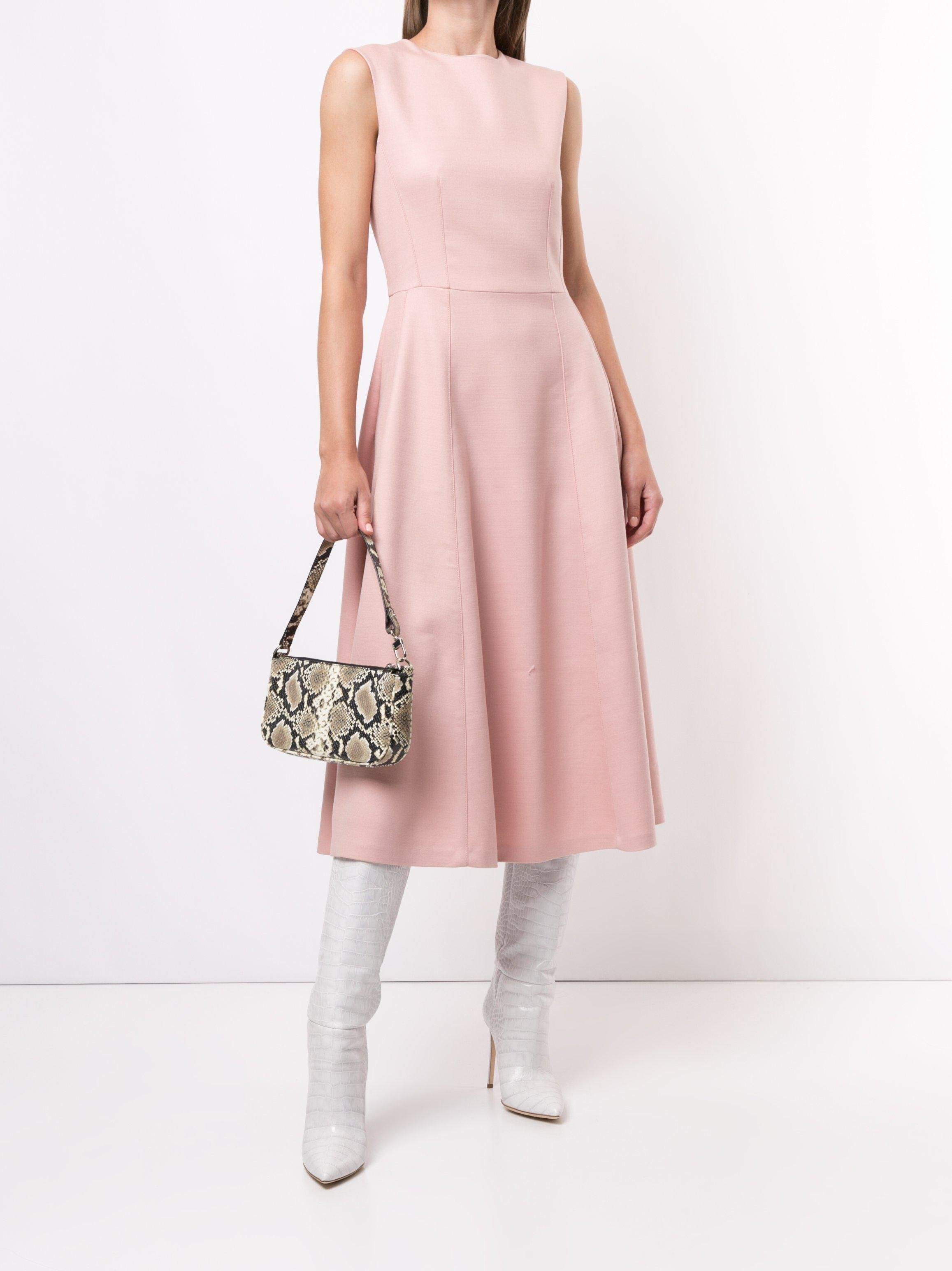 FIT AND FLARE DRESS IN DOUBLE FACE ITALIAN WOOL
