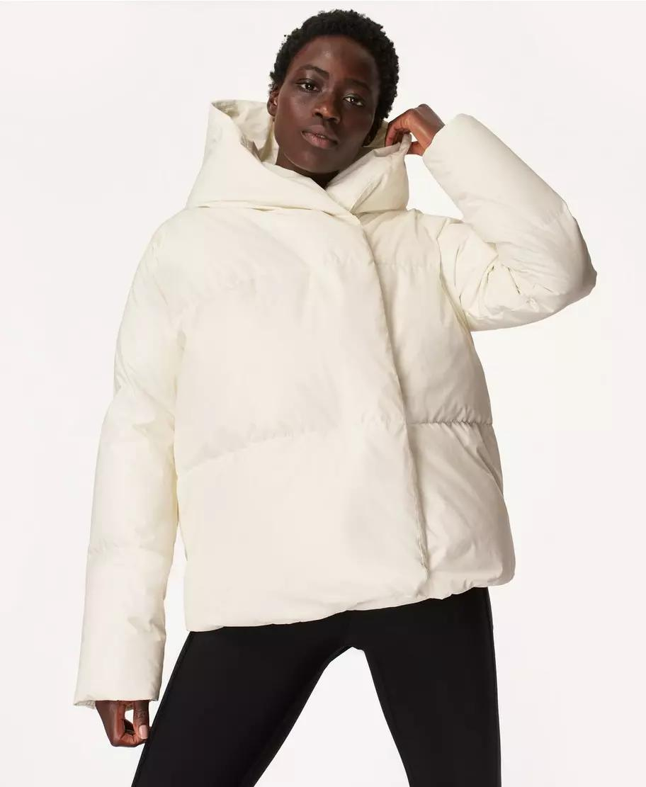 Cocoon Down Wrap Short Jacket