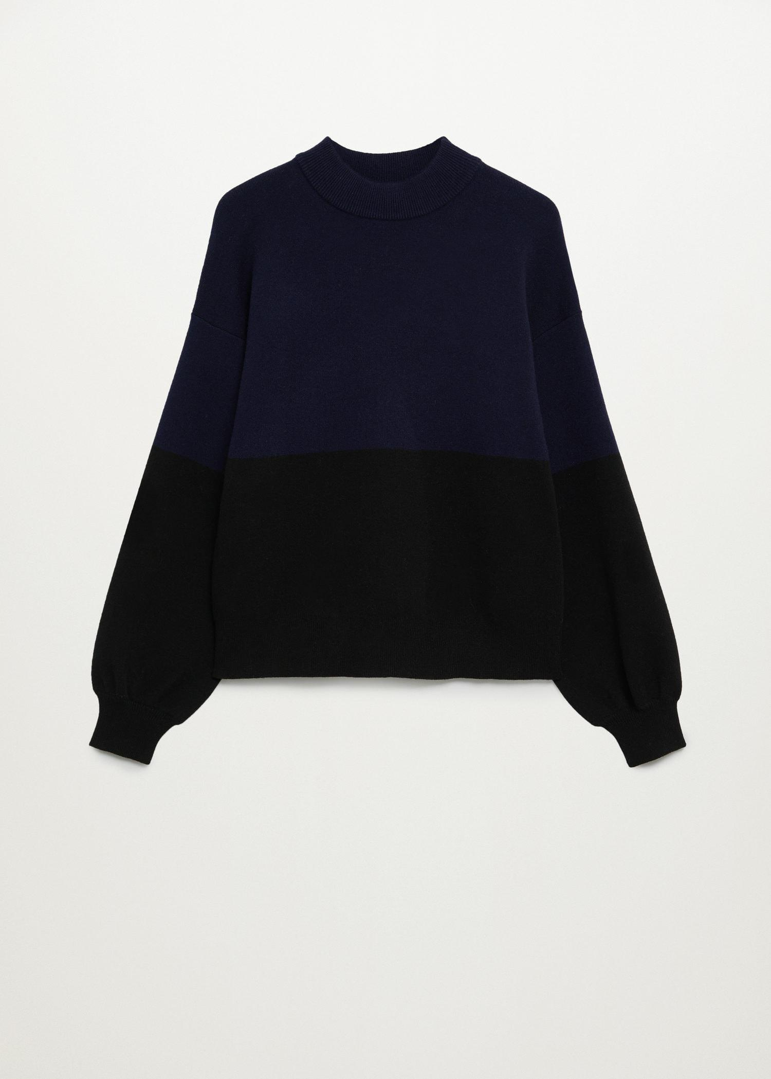 Sweater with puffed sleeves 7