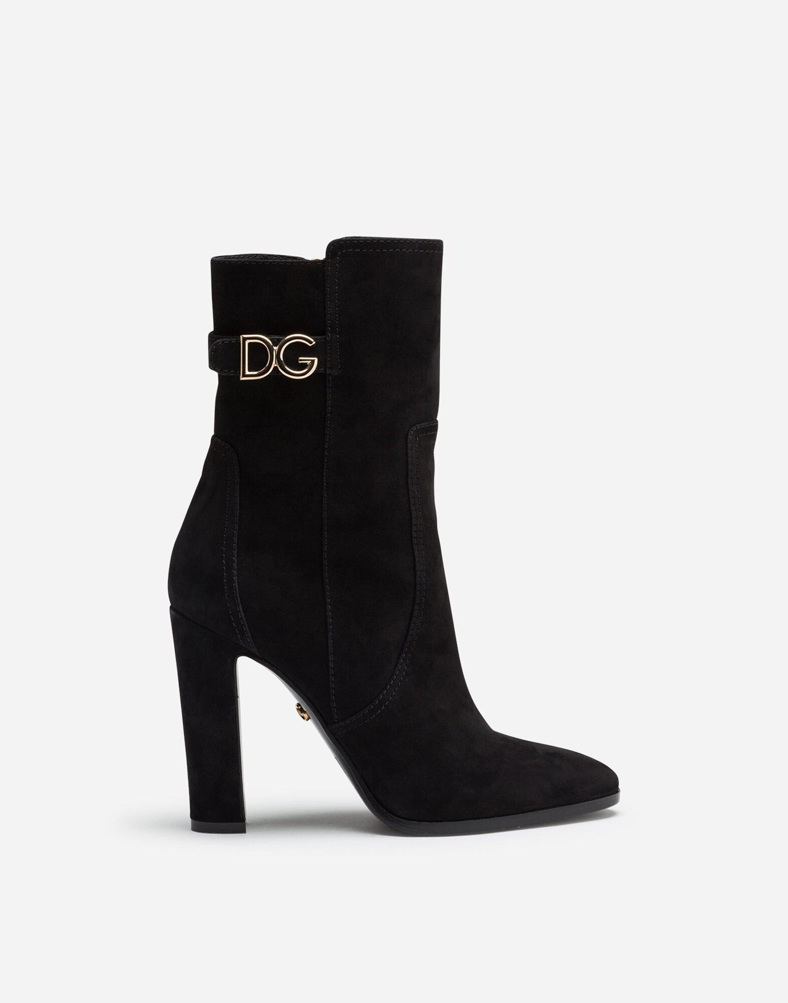 Ankle boots in suede with DG logo