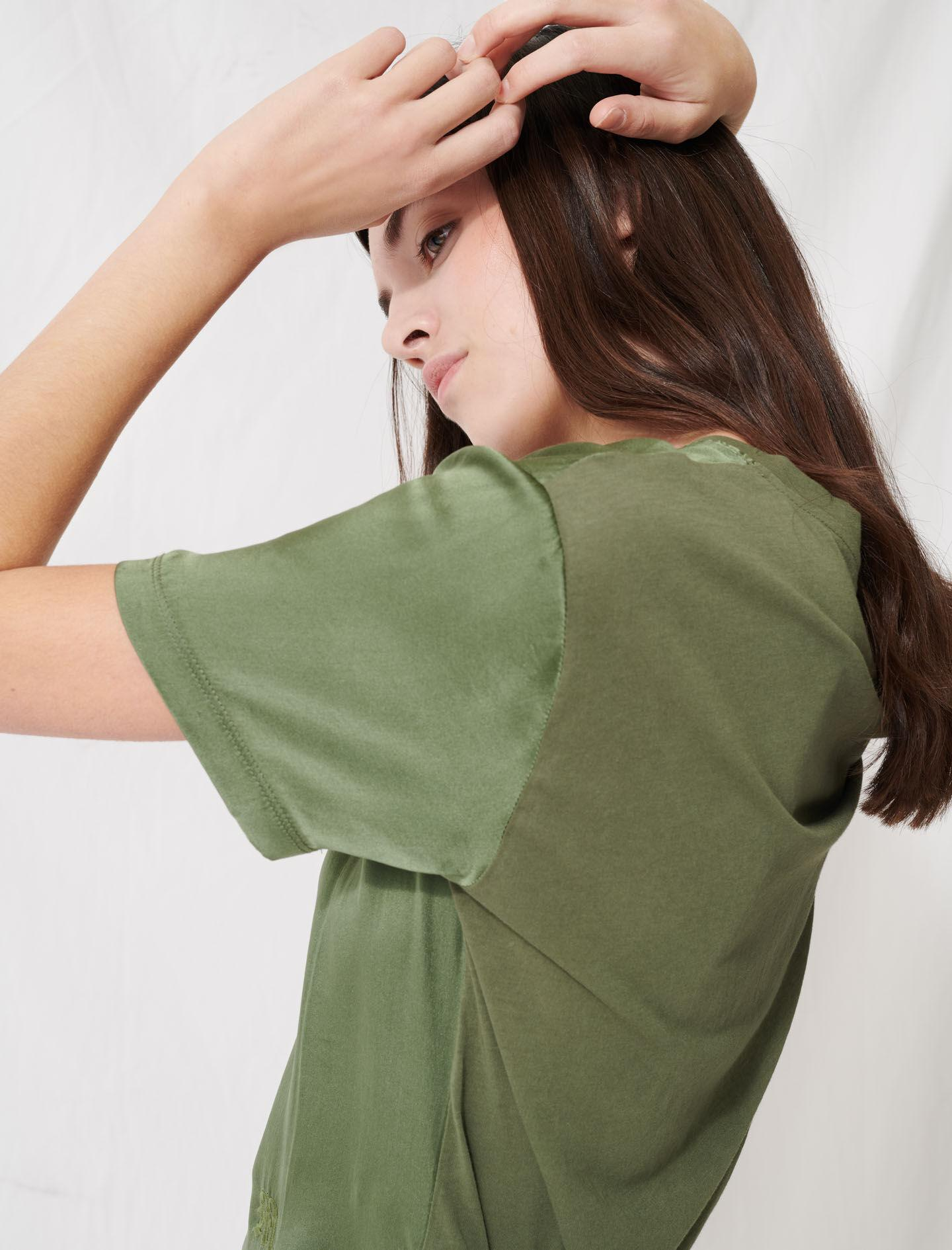 LOOSE-FITTING MATERIAL-MIX T-SHIRT 3