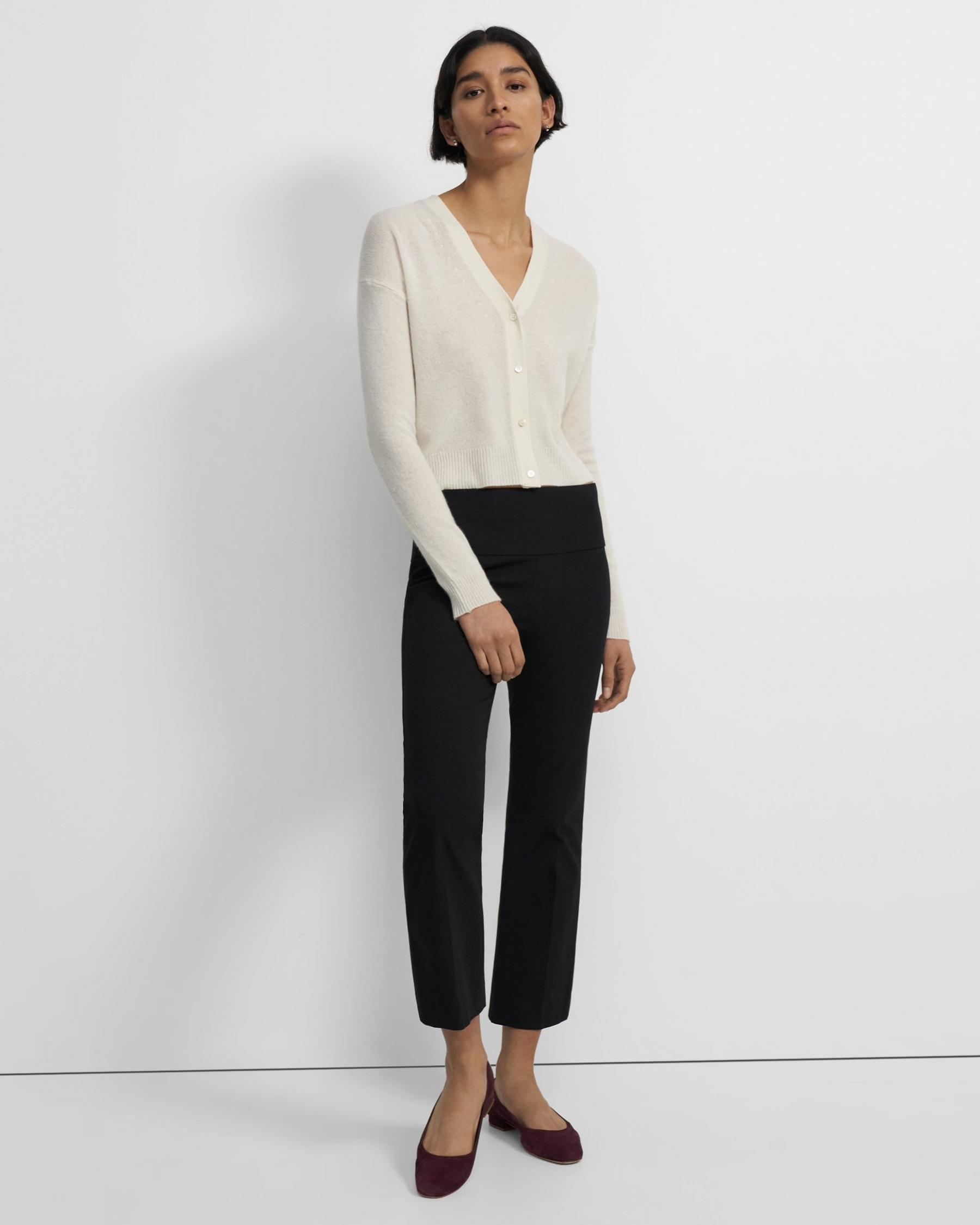 Cropped Cardigan in Feather Cashmere 3