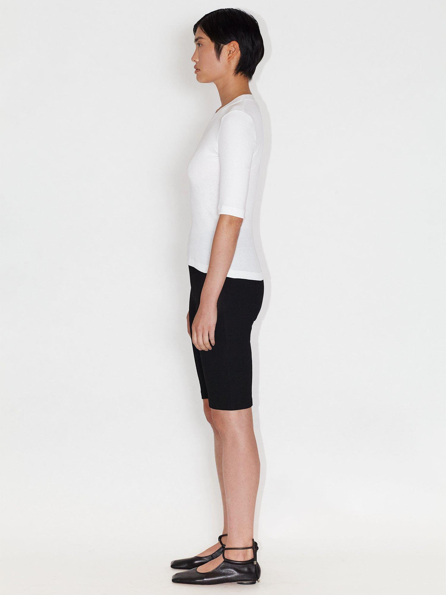 Cropped Sleeve T-Shirt 2