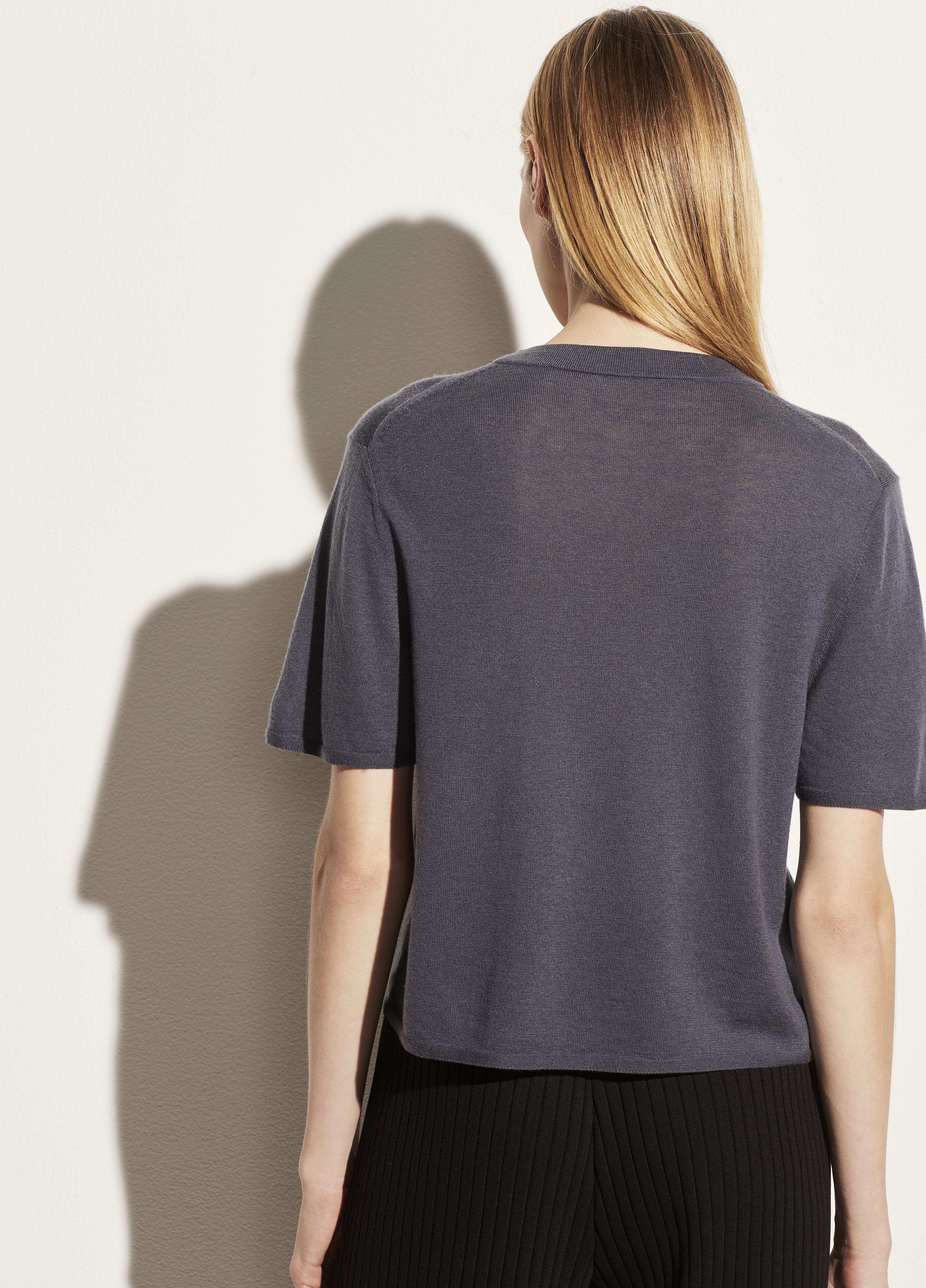 Wool Cashmere Easy Short Sleeve Crew 3