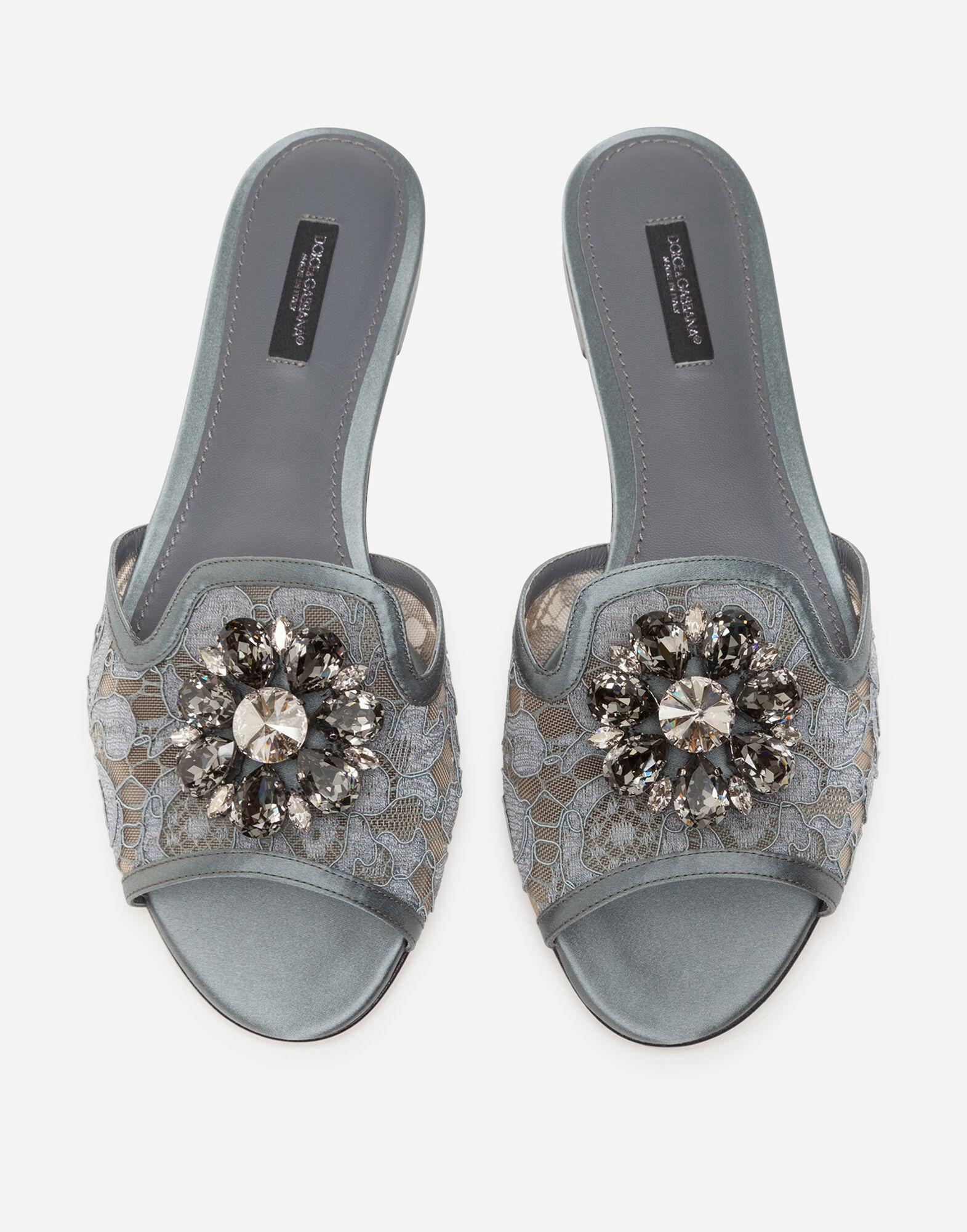 Slippers in lace with crystals 3
