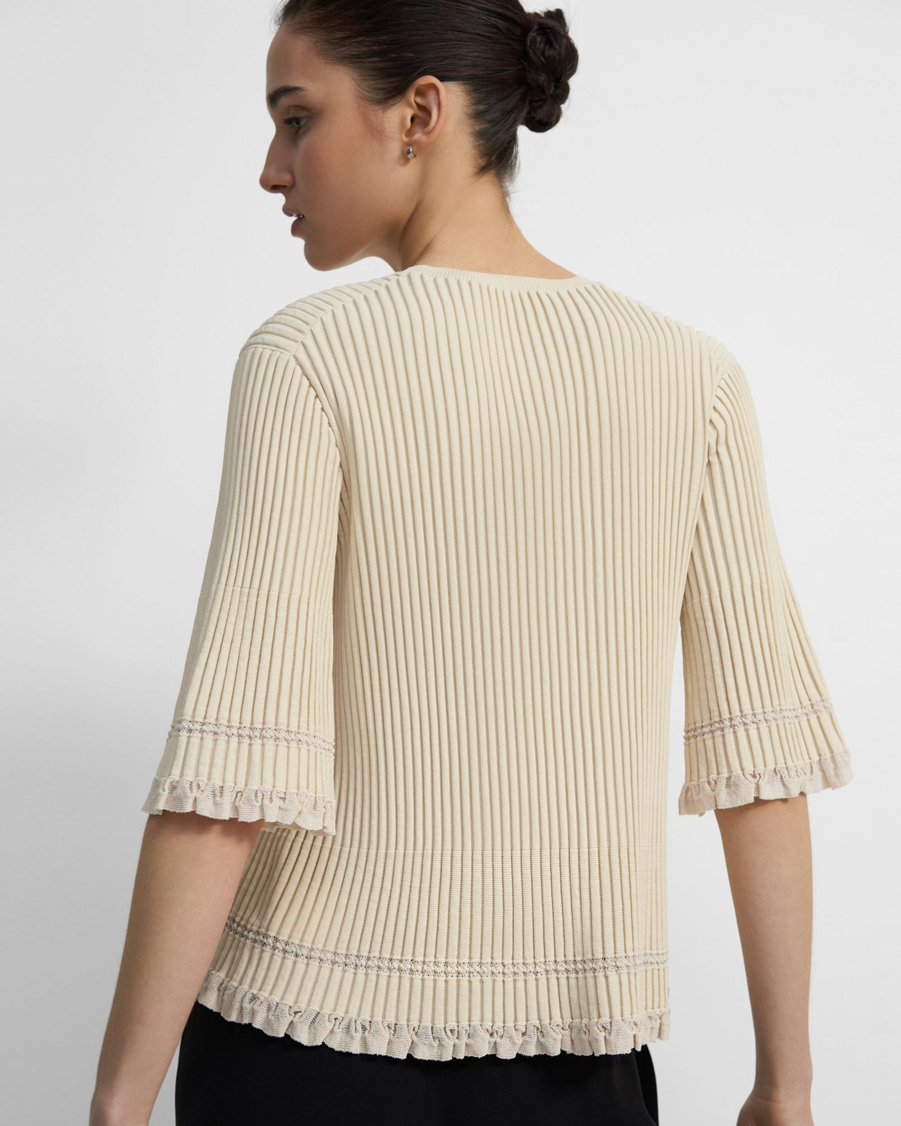 Ribbed T-Shirt in Eco Knit 2