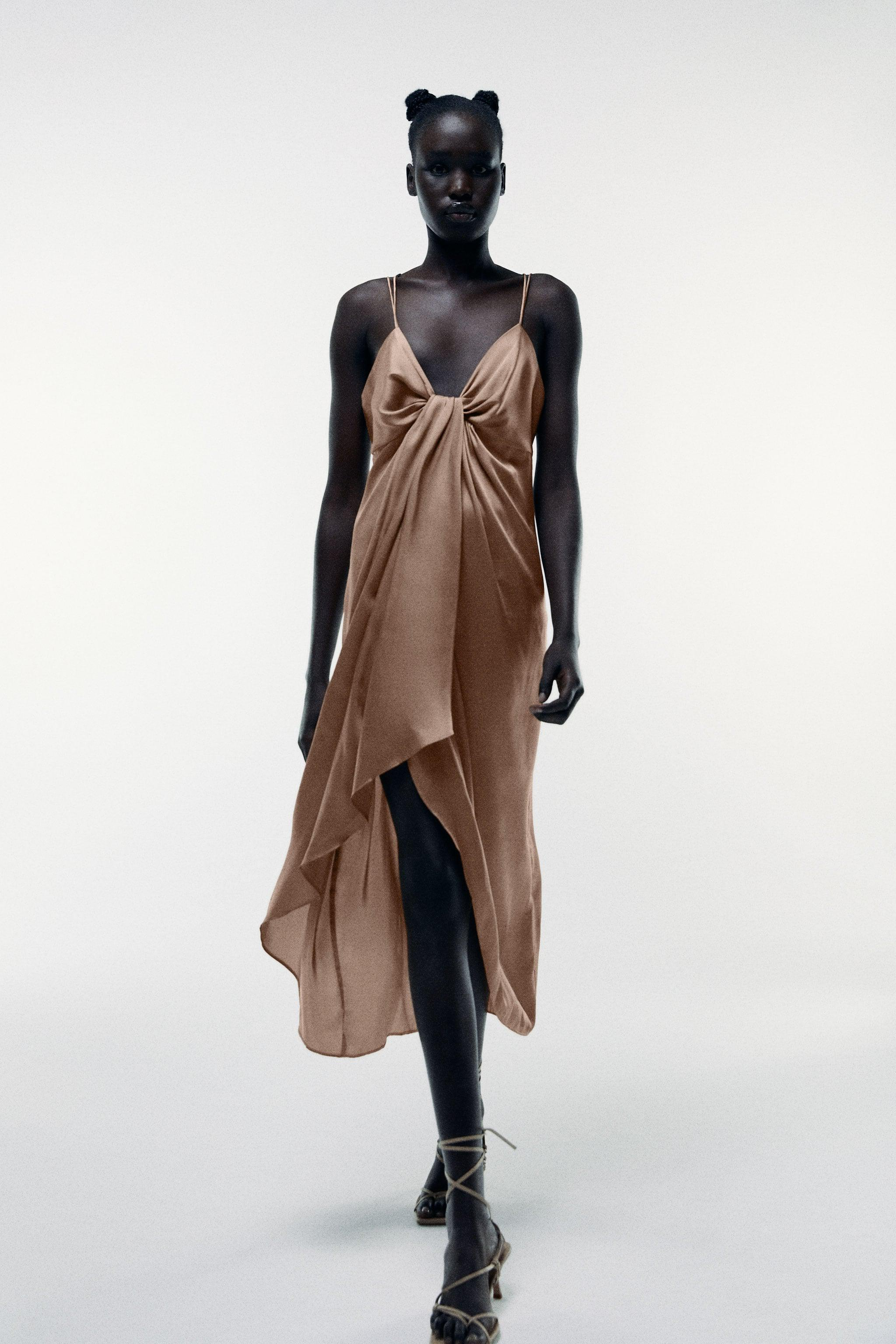 KNOTTED SLIP DRESS 0