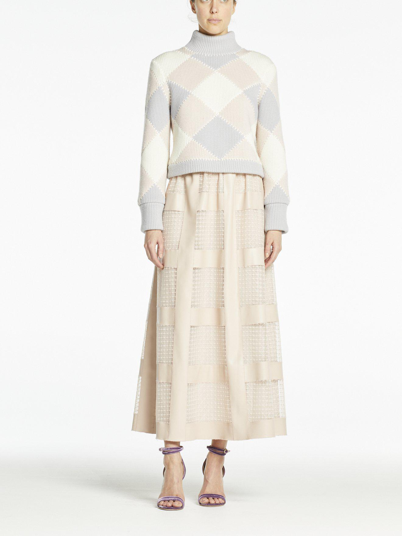 NOURA SKIRT PALE PINK PLEATHER
