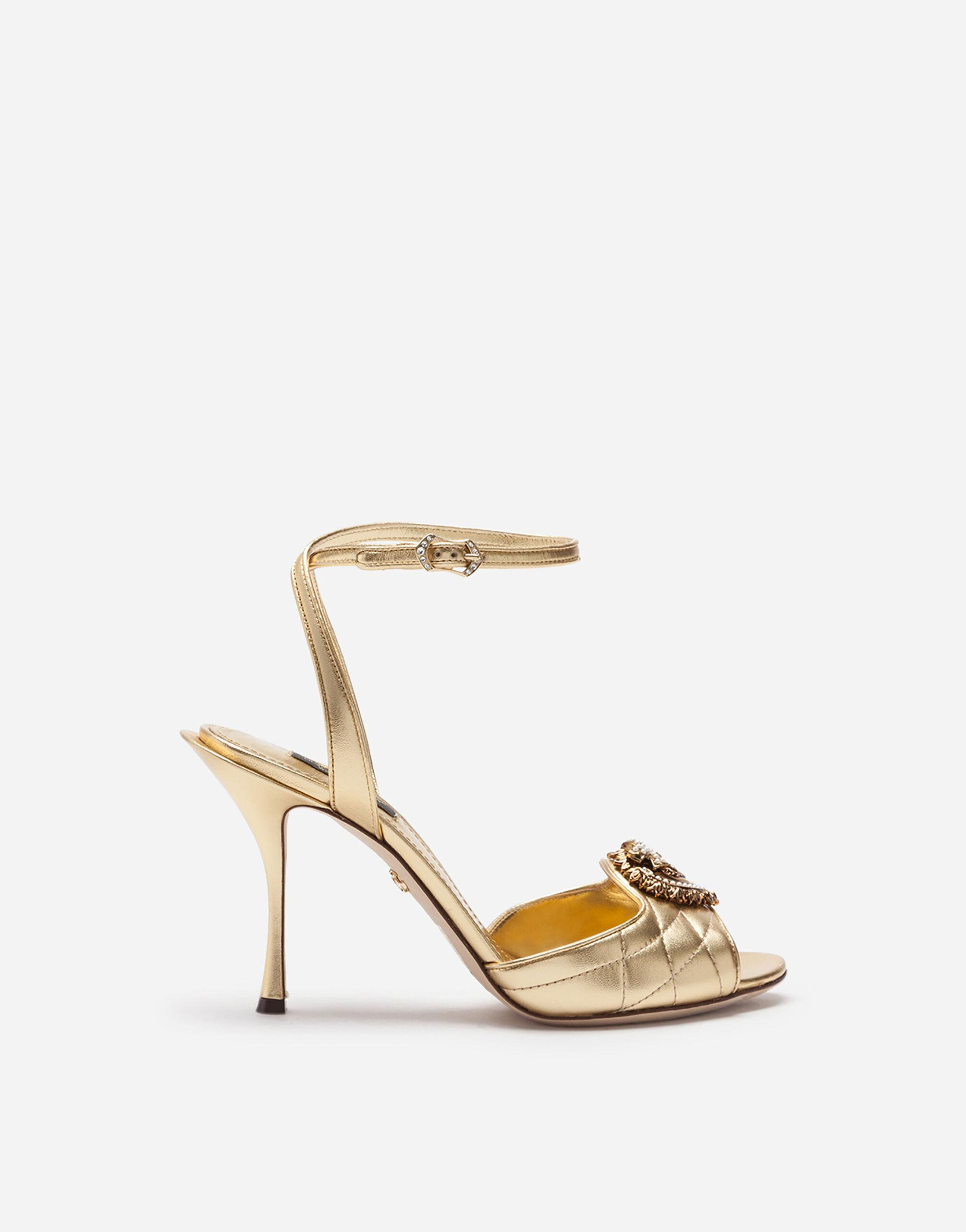 Quilted nappa mordore Devotion sandals