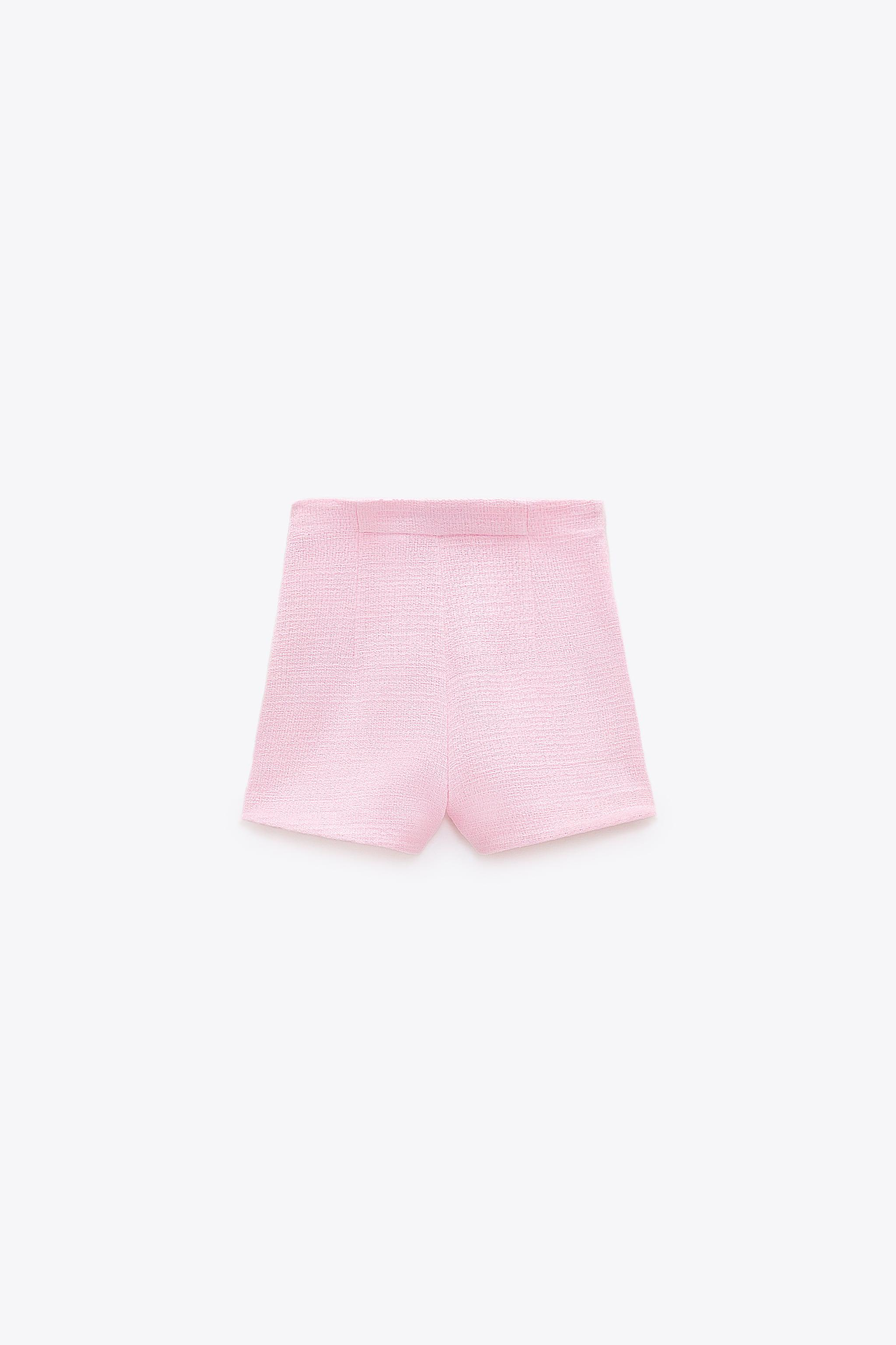 TEXTURED WEAVE SHORTS WITH BUTTONS 6