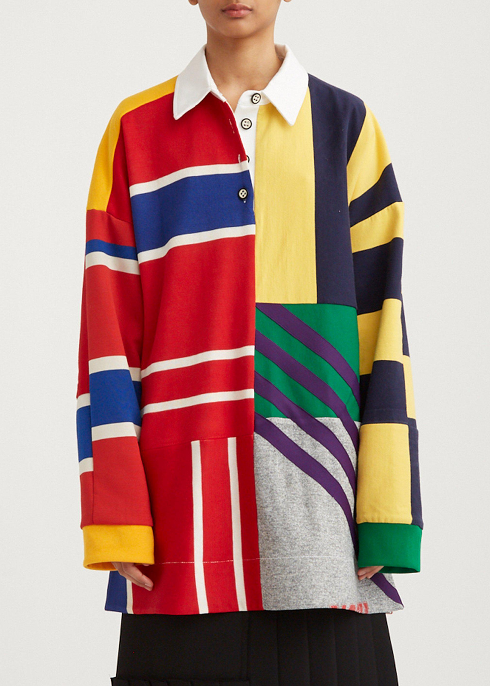 Patchwork Rugby Pullover