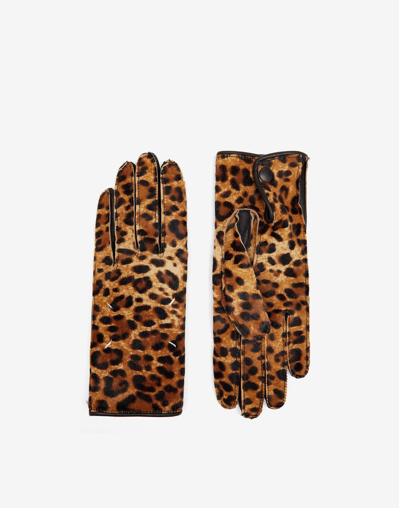 Faux pony hair gloves