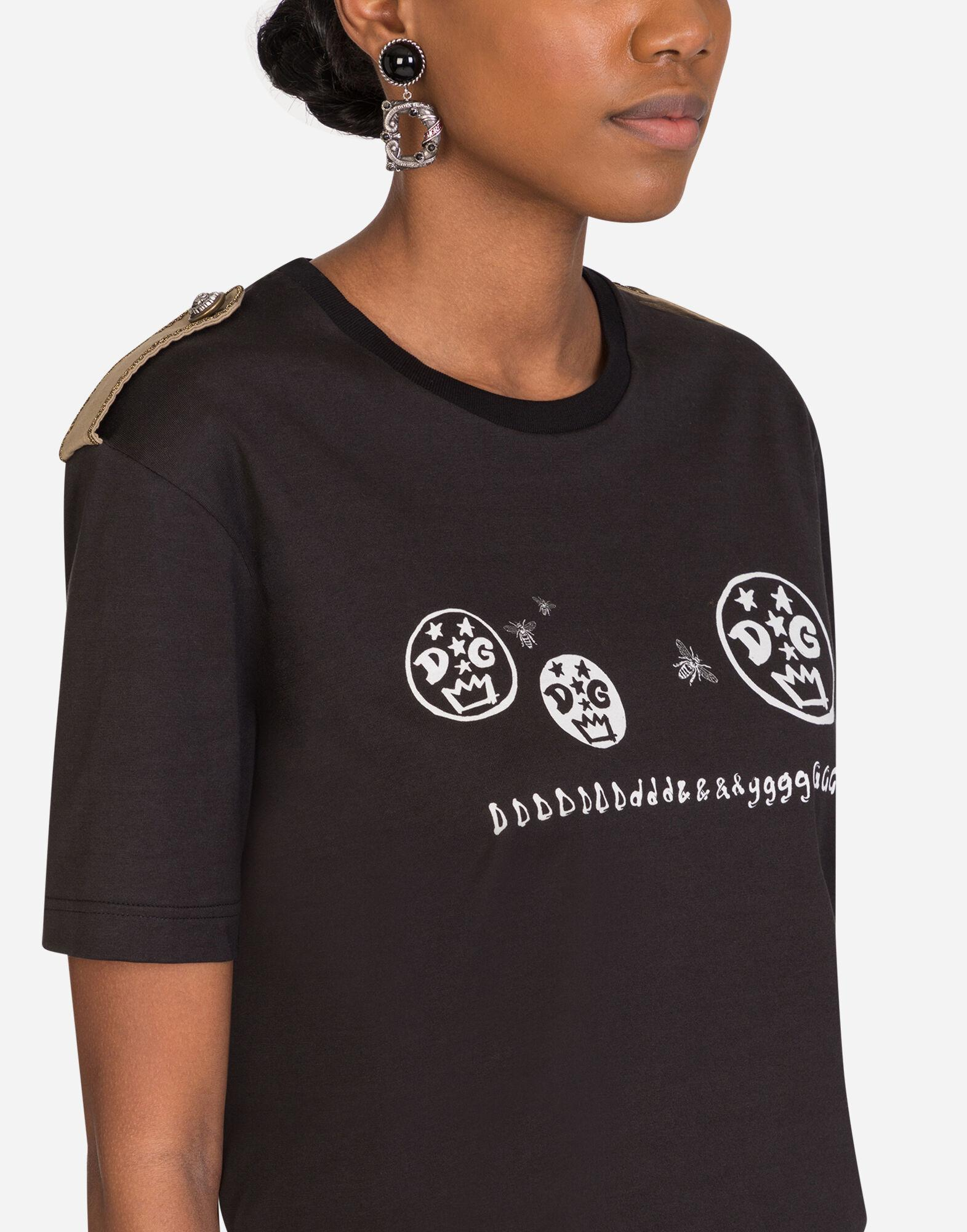 Jersey t-shirt with epaulettes 2
