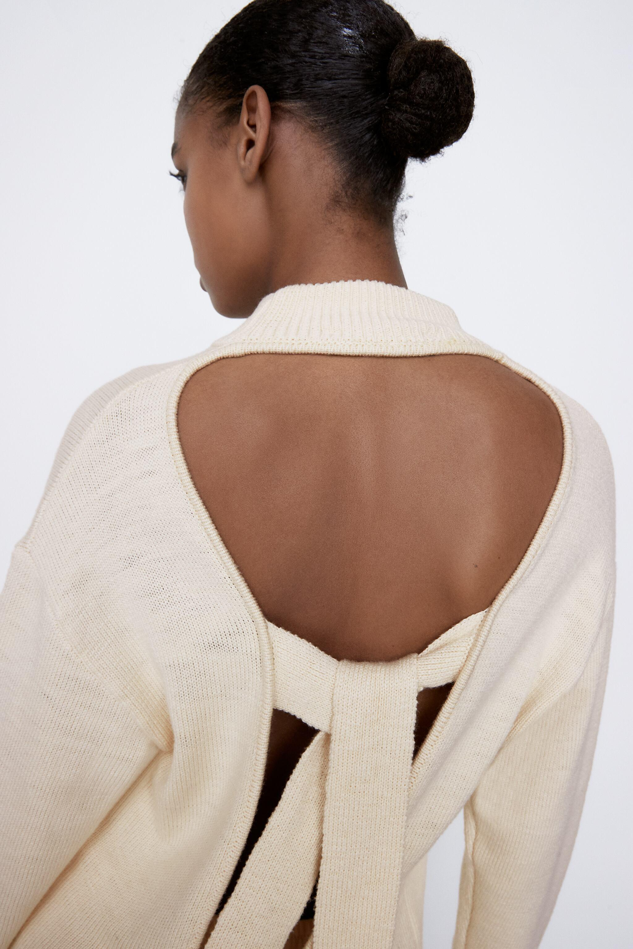 KNIT SWEATER WITH BACK OPENING 1