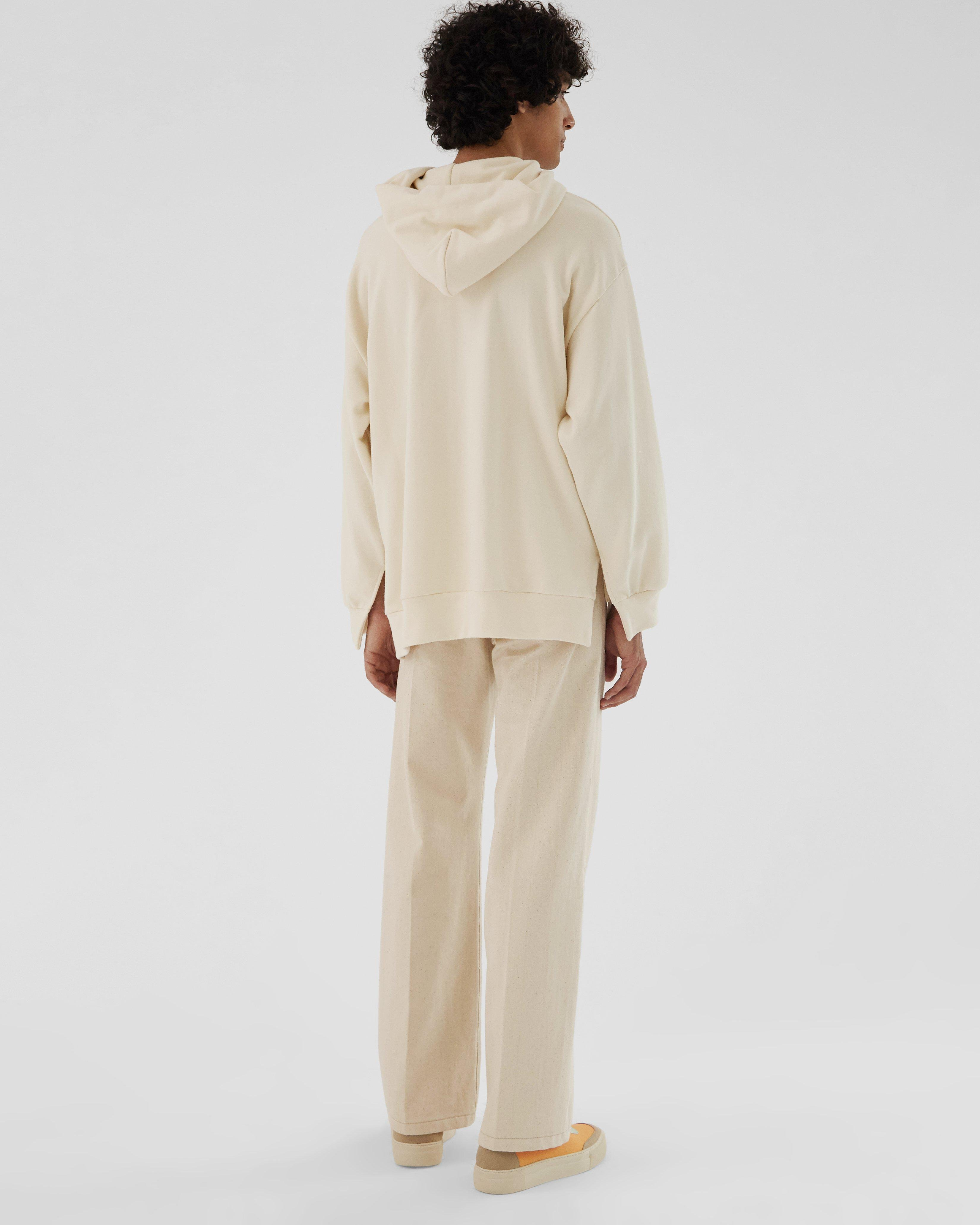 Casey Hoodie Organic French Terry Cotton Ivory 5