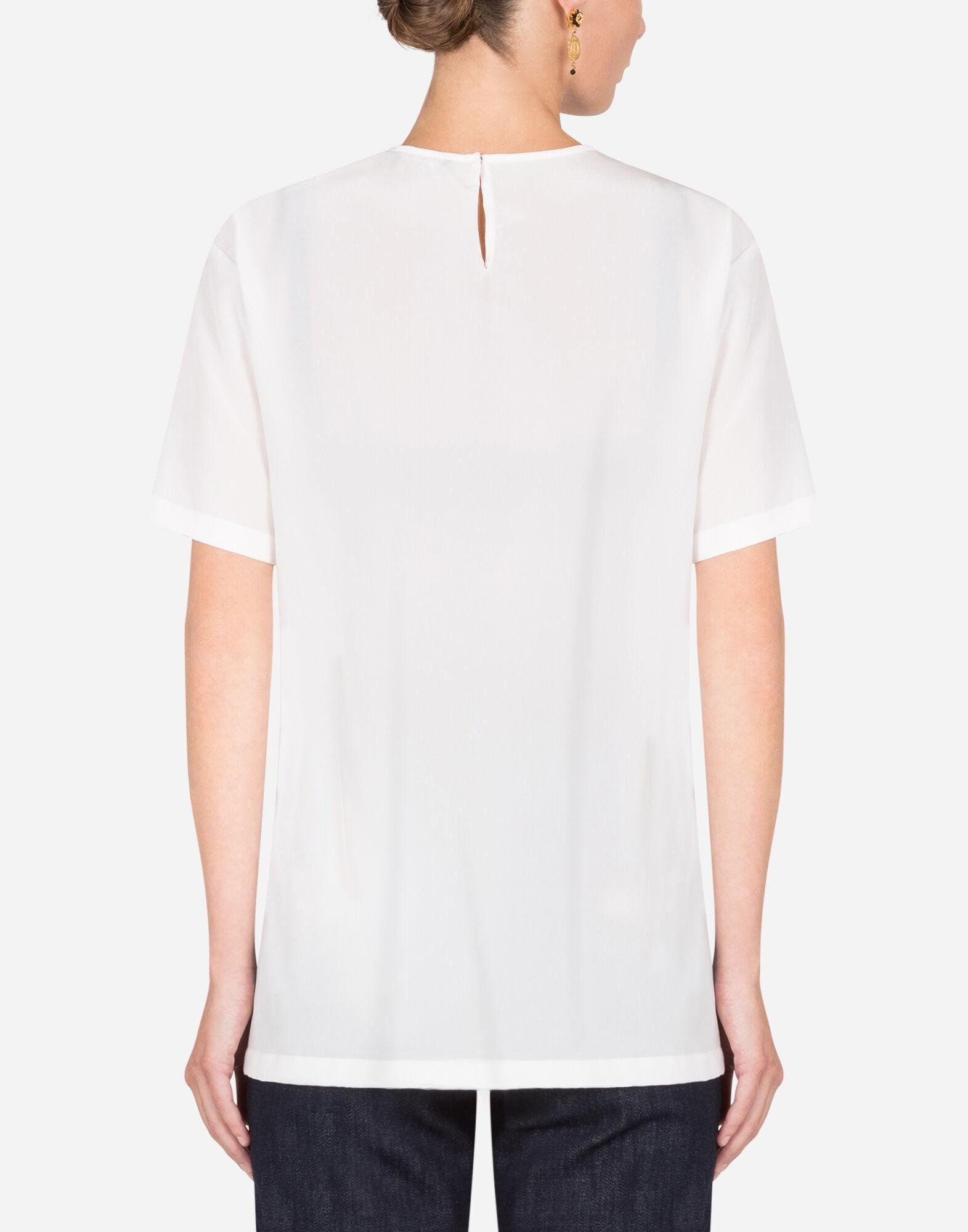 Crepe de chine top with embroidery 1
