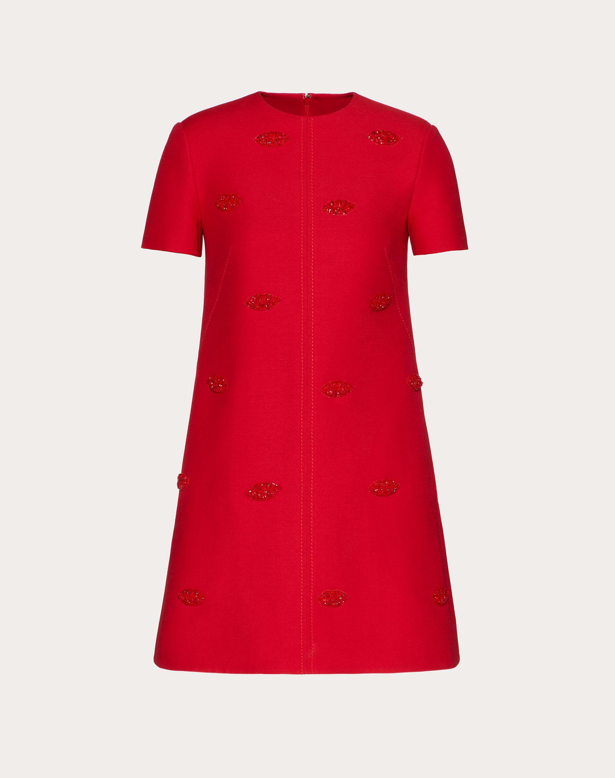 SHORT EMBROIDERED CREPE COUTURE DRESS 4