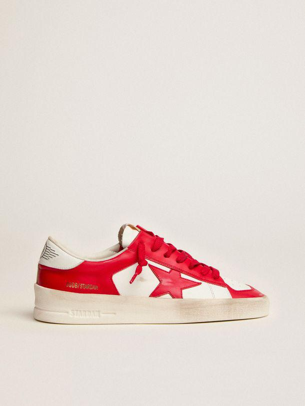 Stardan sneakers in white and red leather