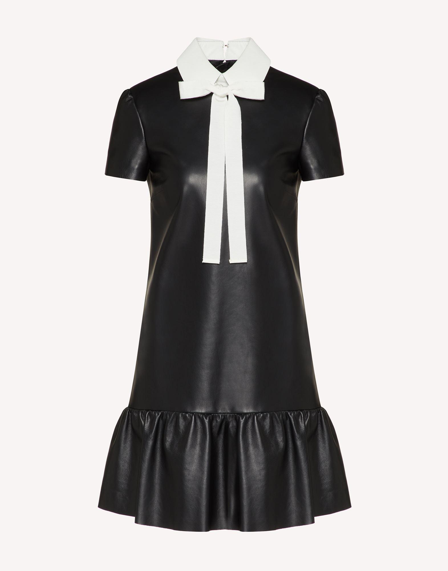 NAPPA LEATHER DRESS WITH COLLAR DETAIL 4