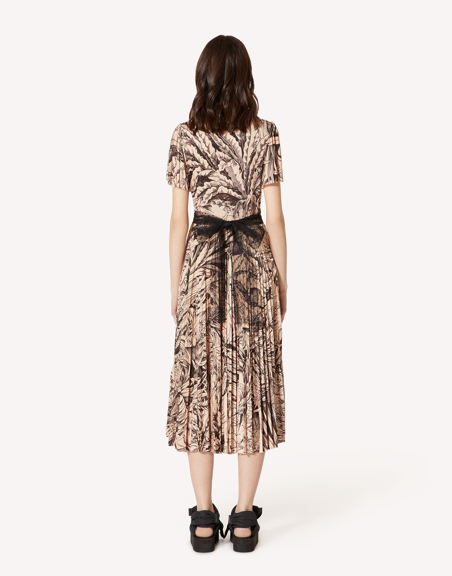 JERSEY DRESS WITH JUNGLE TOILE PRINT 1