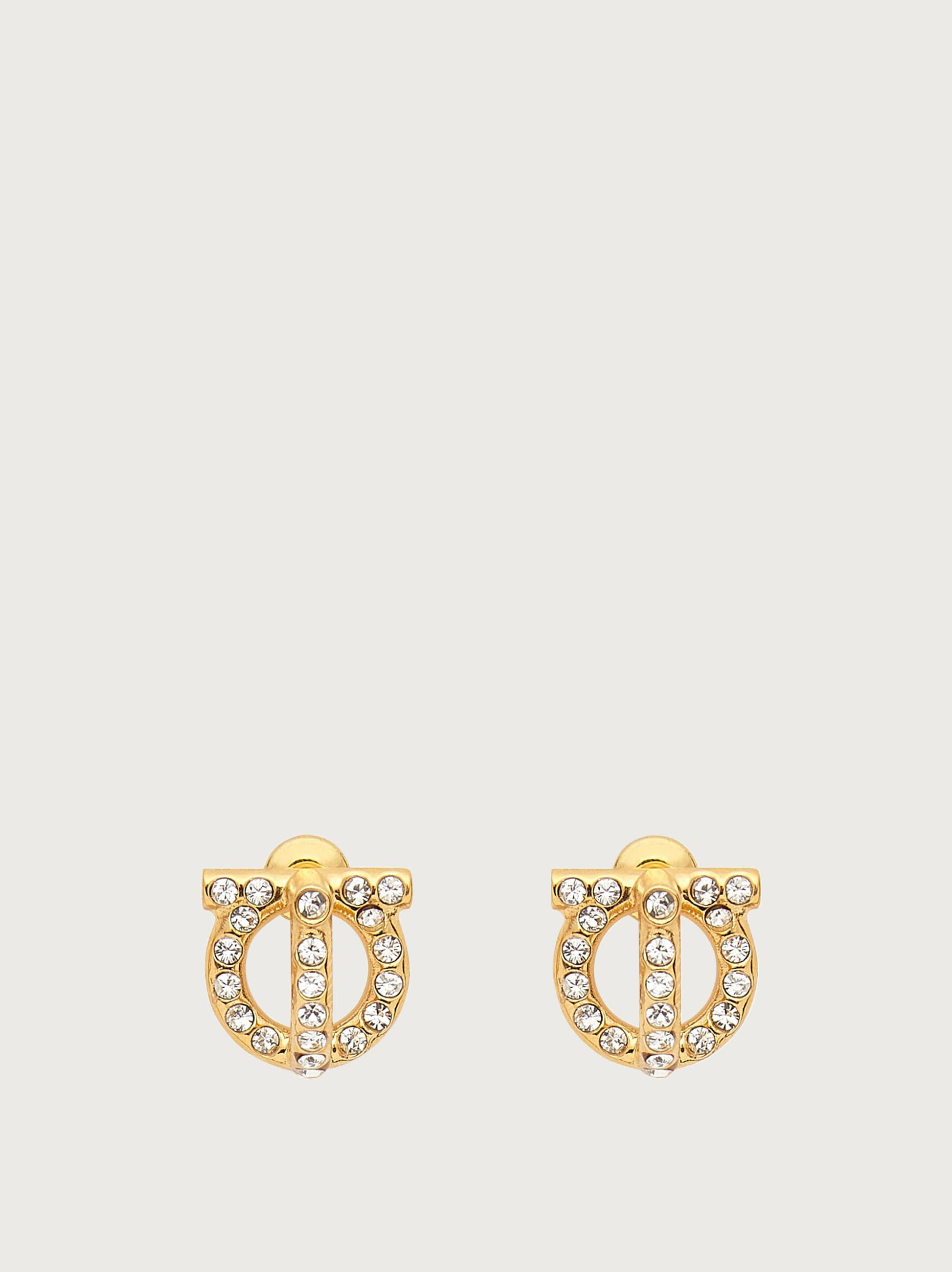 GANCINI 3D EARRINGS WITH CRYSTALS