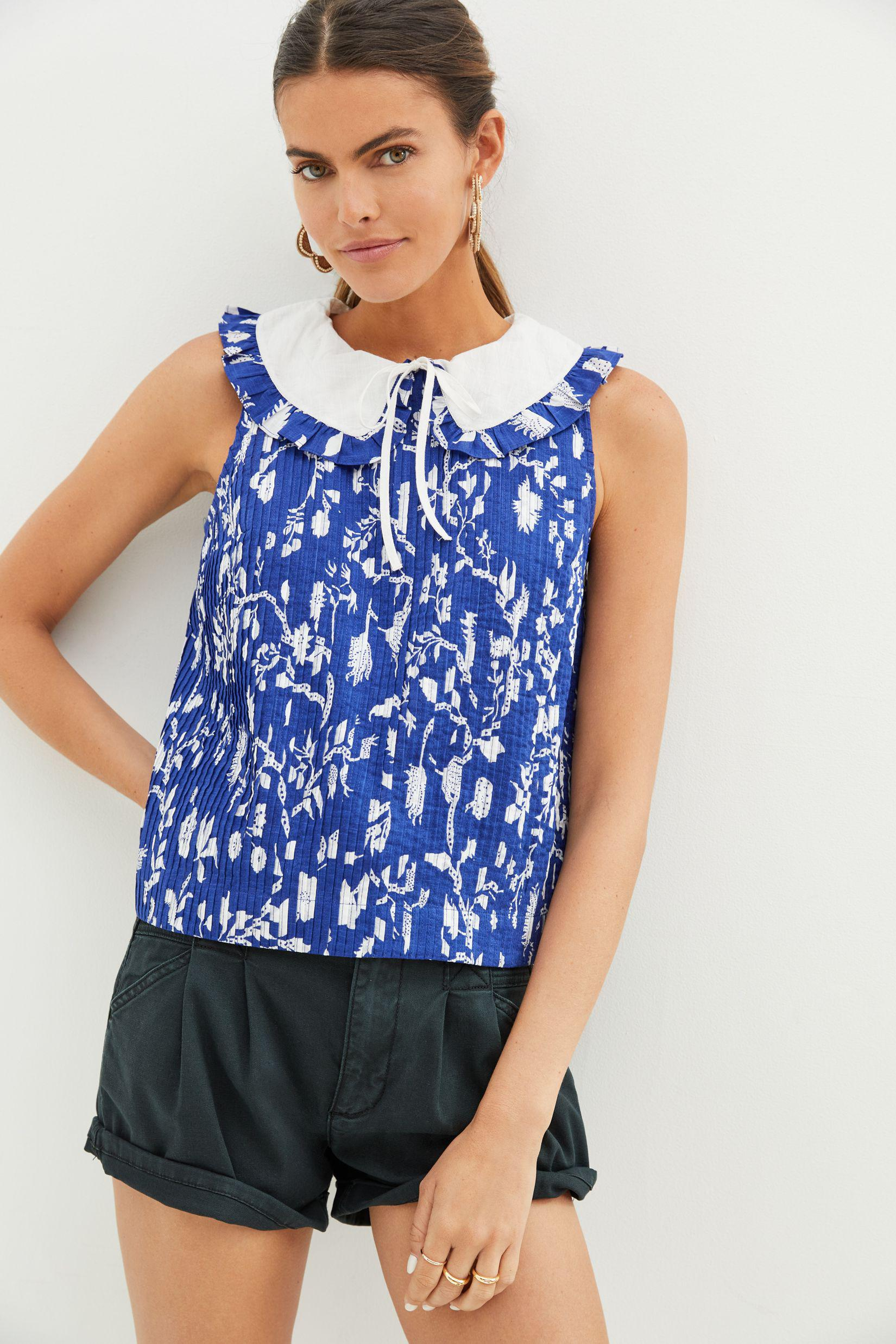 Maeve Pintucked Blouse