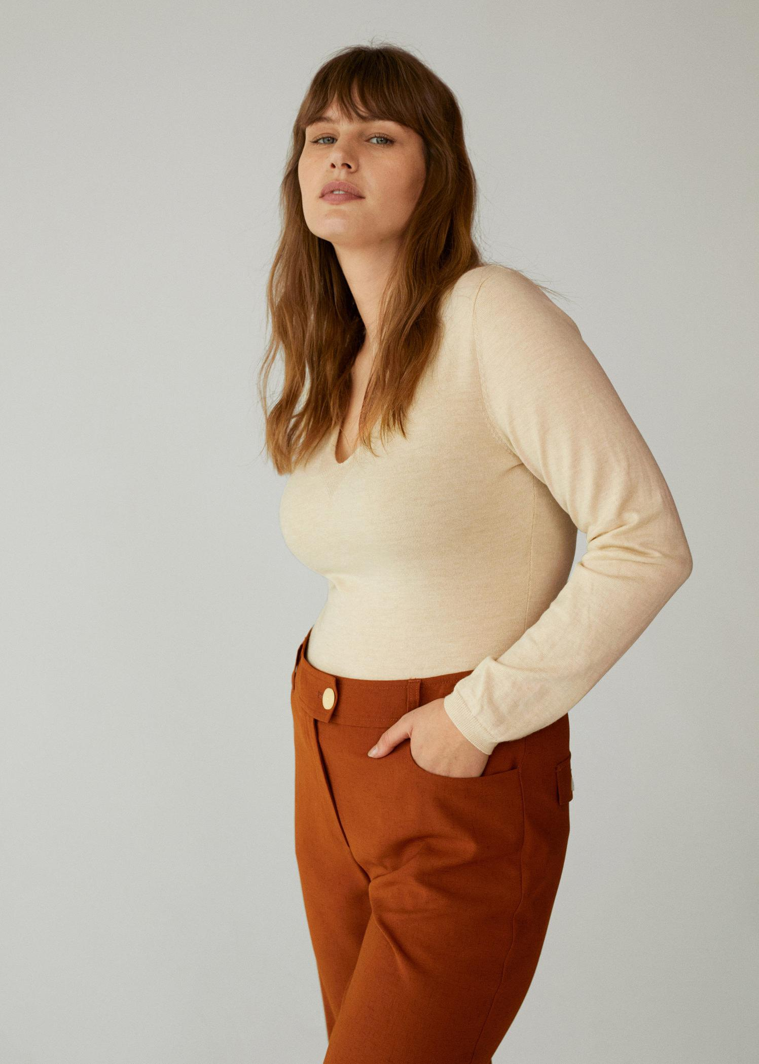 Long-sleeved knitted body 5
