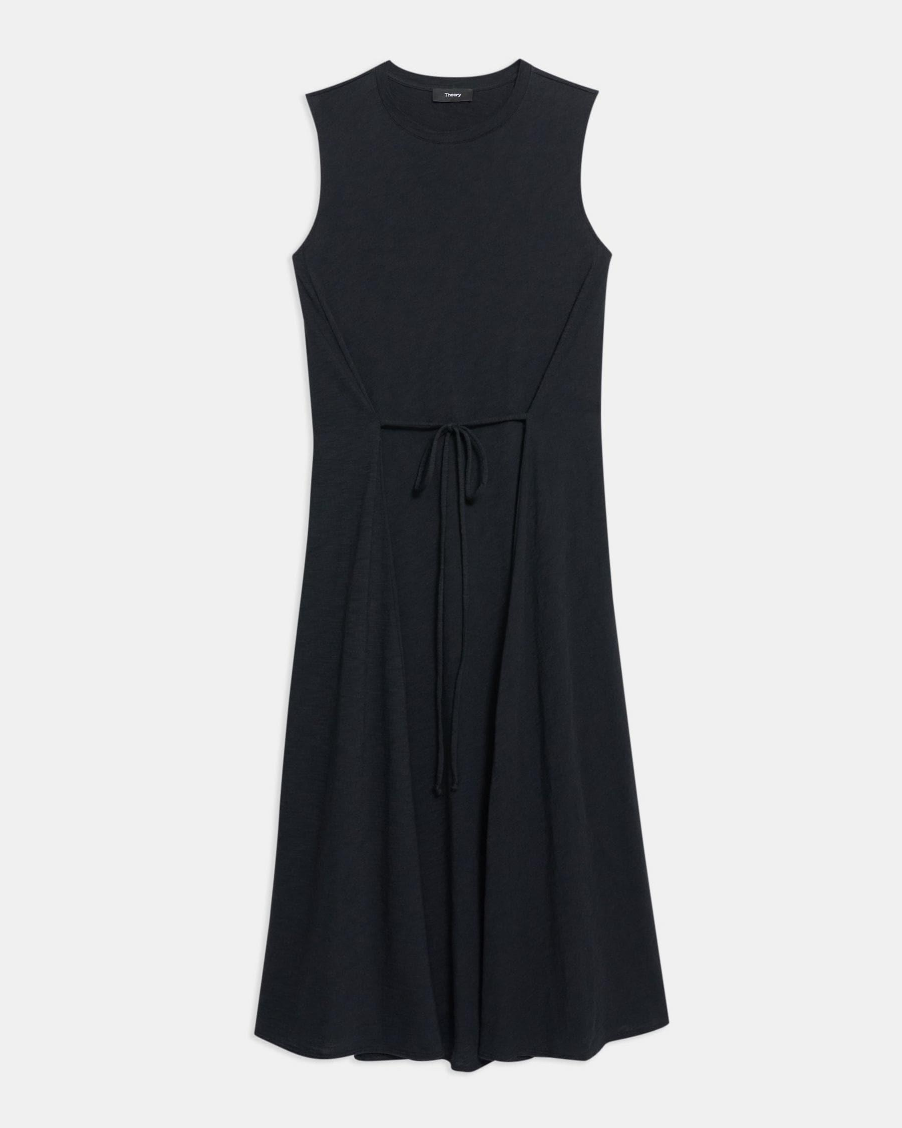 Cinched Tie Dress in Organic Cotton 5