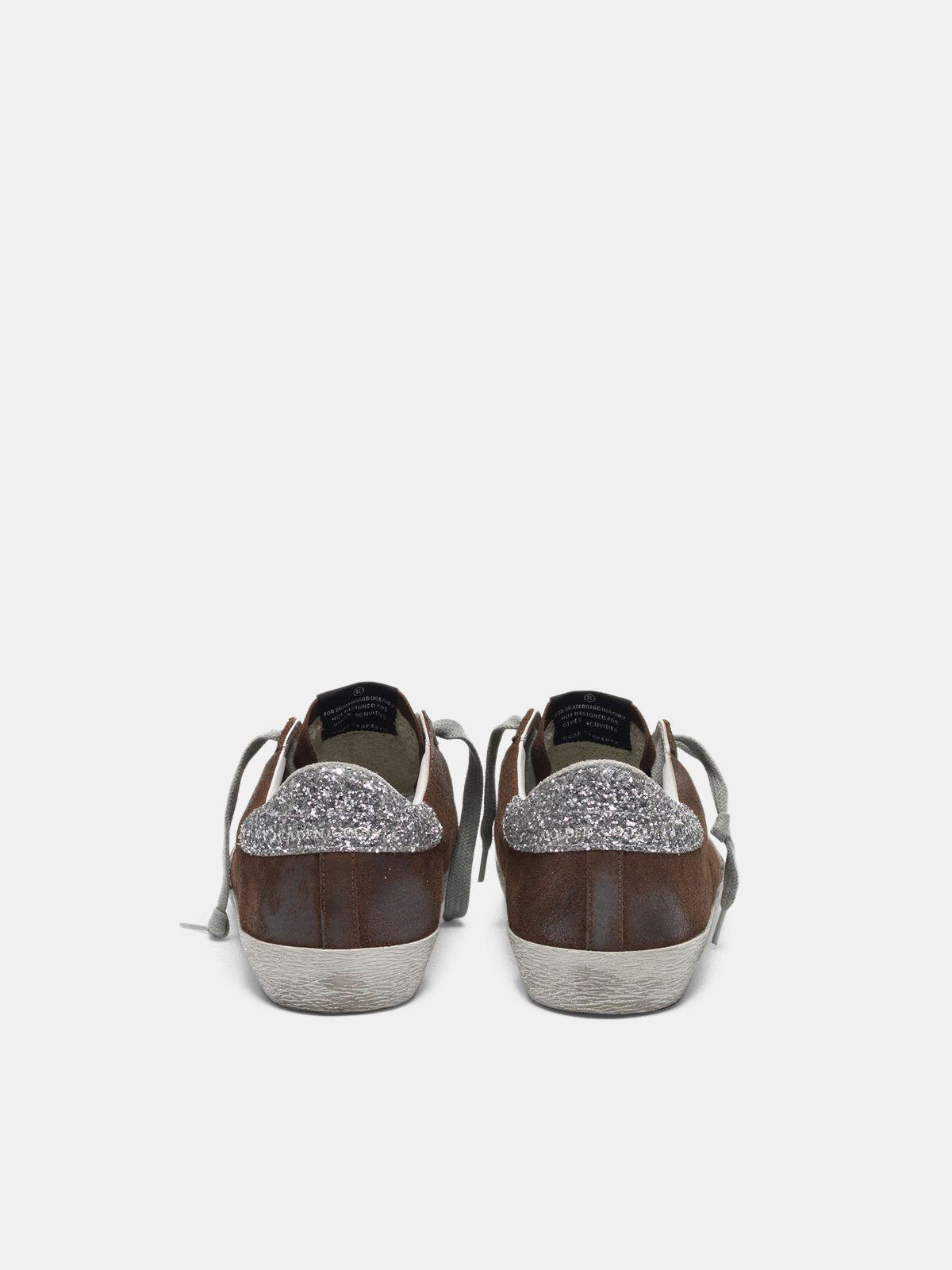 Suede Super-Star sneakers with glittery heel tab 1