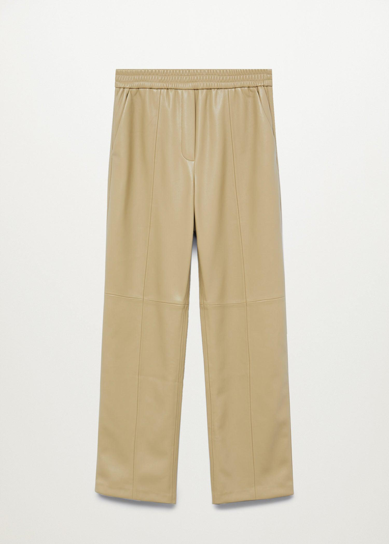 Leather-effect straight trousers 7