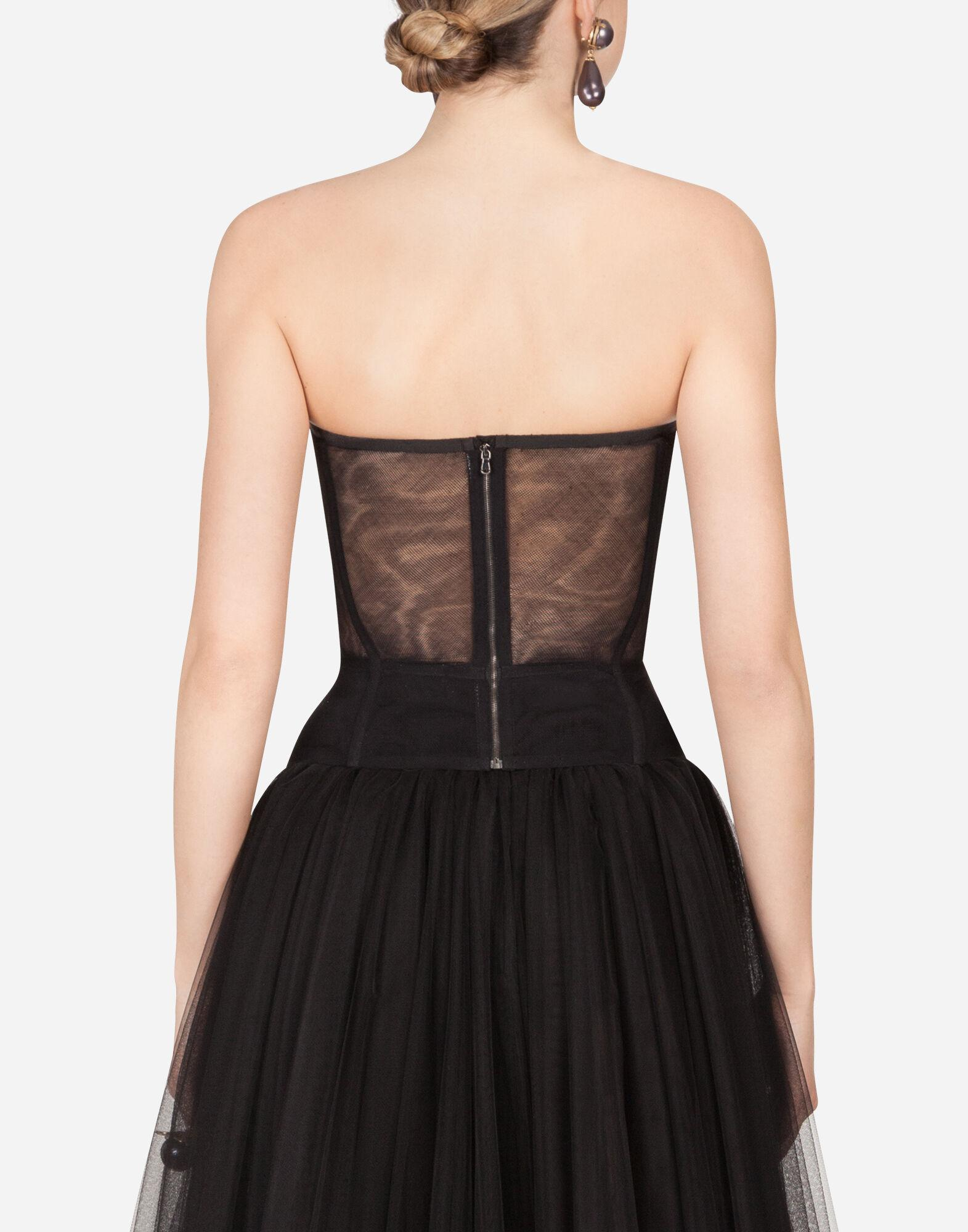 Cotton tulle bustier top 1