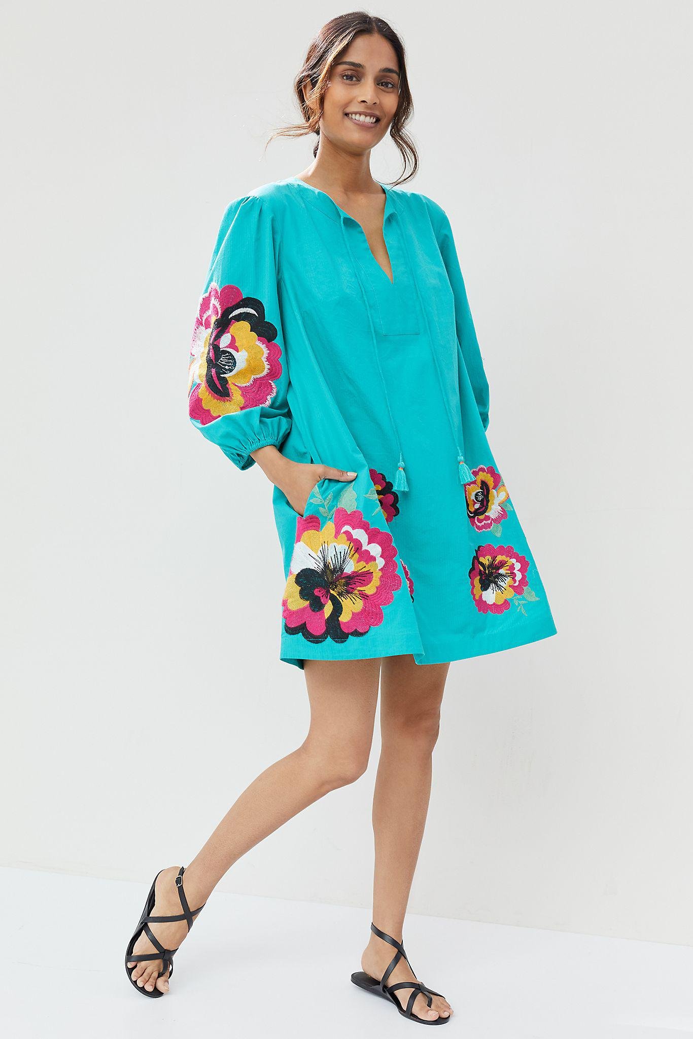 Maeve Embroidered Tunic Dress