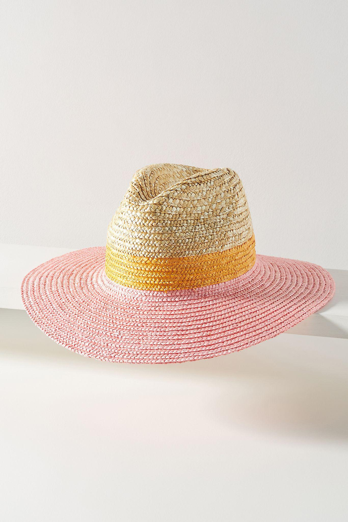 Colorblocked Straw Rancher