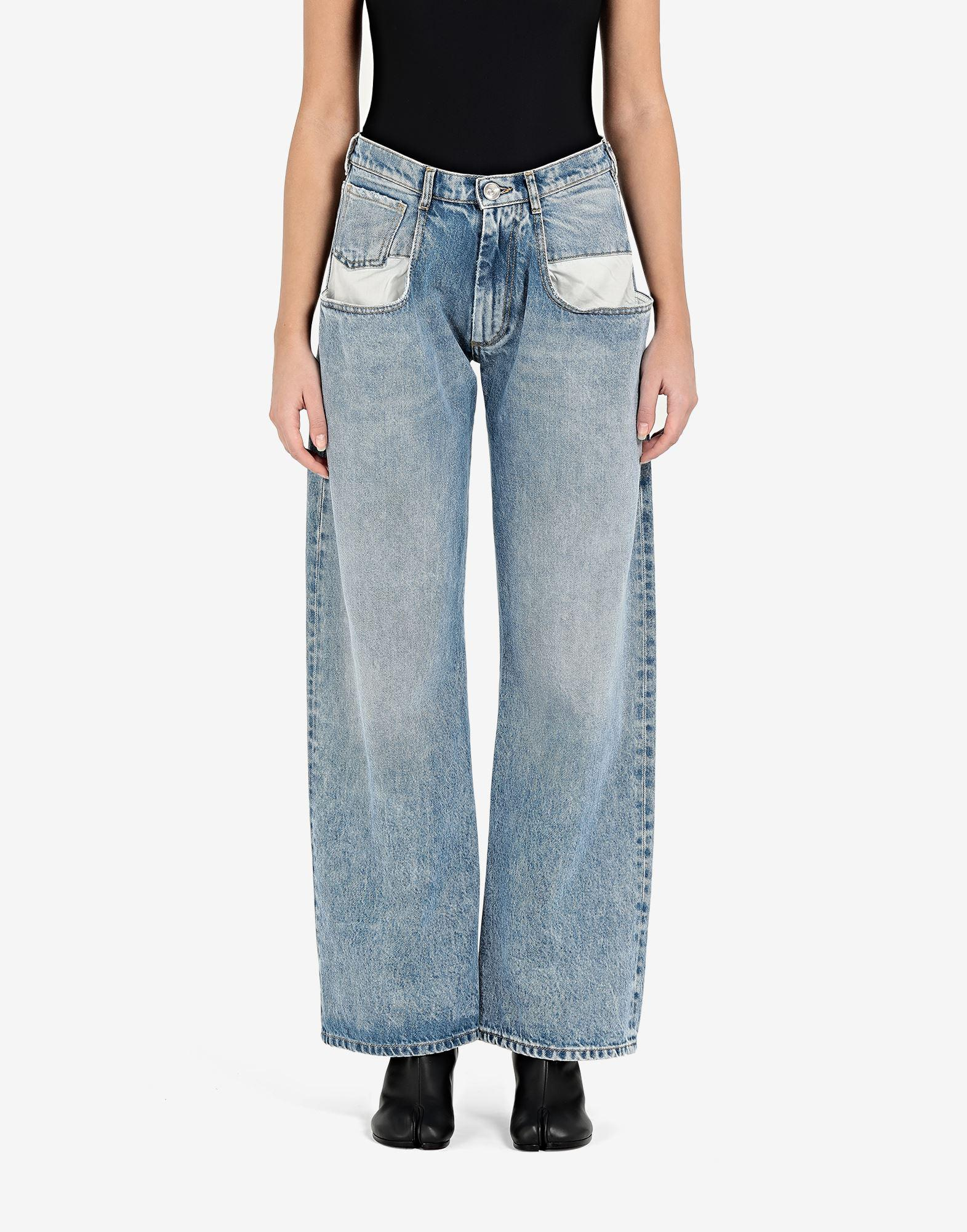 Straight jeans with contrasted pockets 3