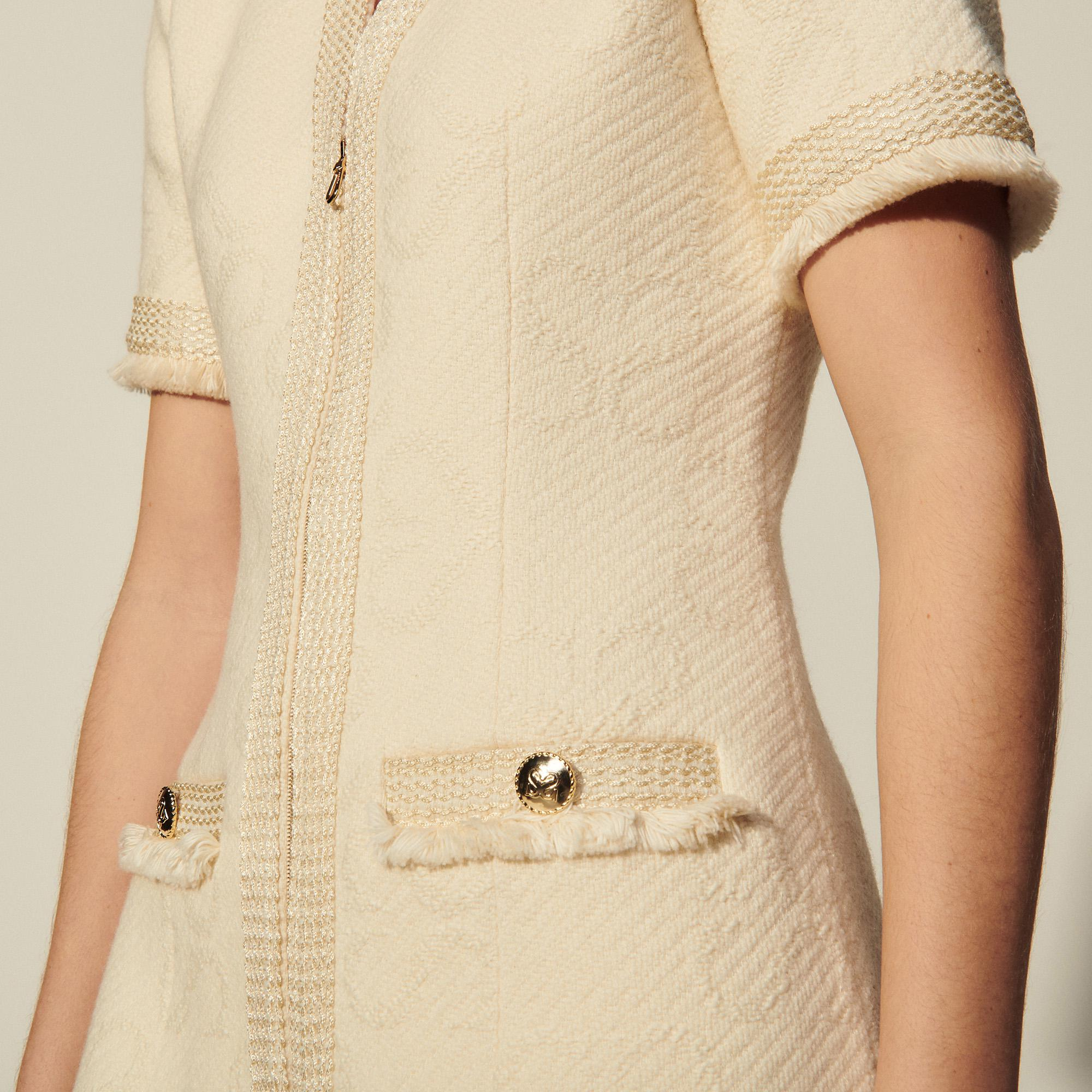 Tweed dress in double S jacquard 4
