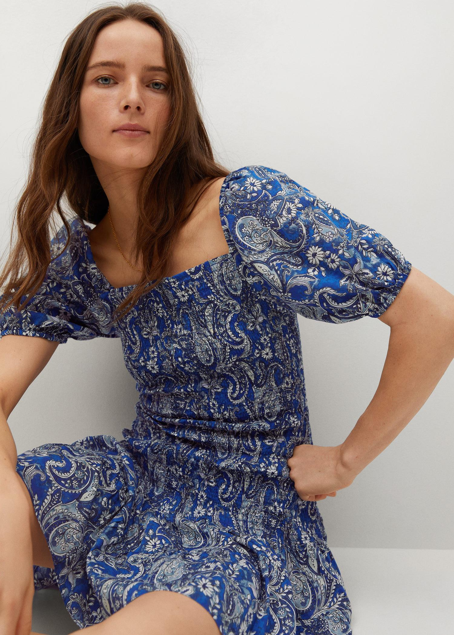 Printed ruched dress 4