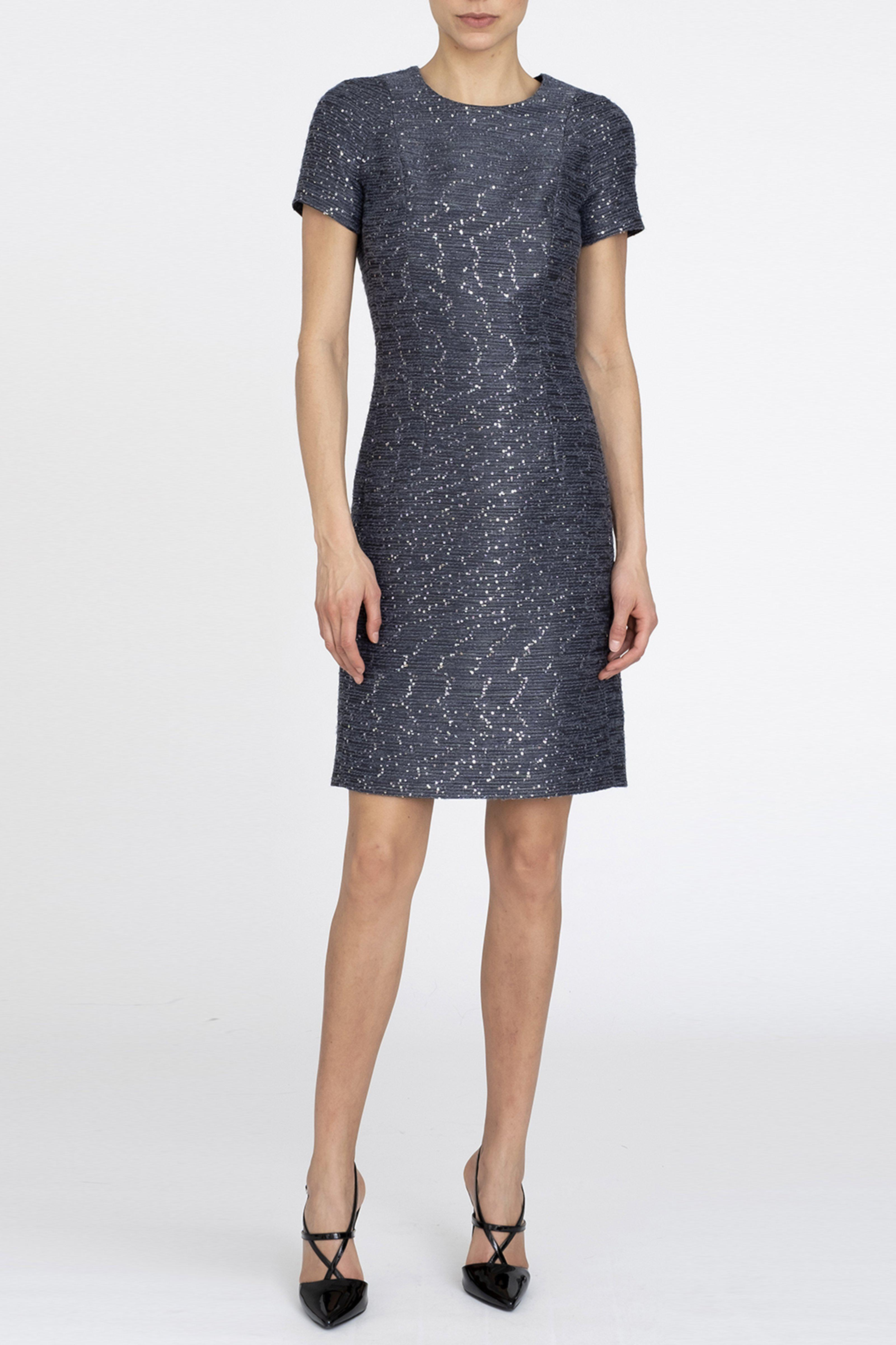 SEQUINED WOOL DRESS