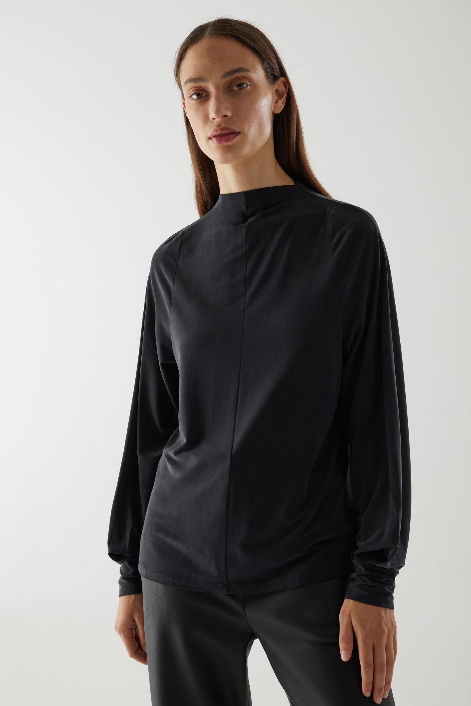 CUPRO LONG-SLEEVED TOP