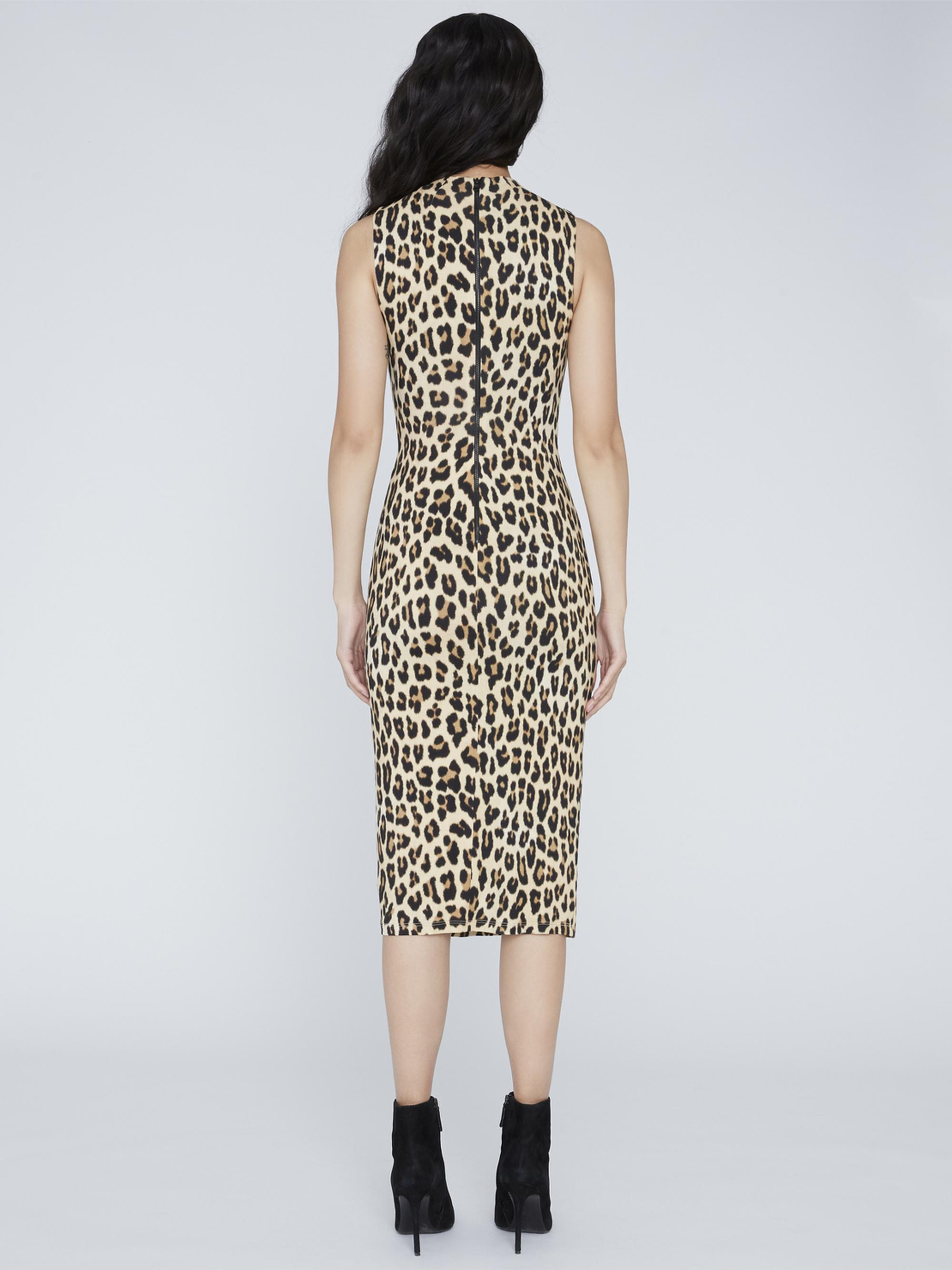 DELORA FITTED MOCK NECK DRESS 1