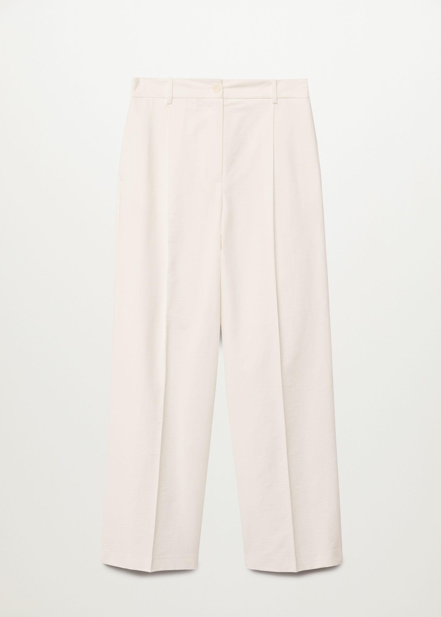 Pleat straight trousers 6
