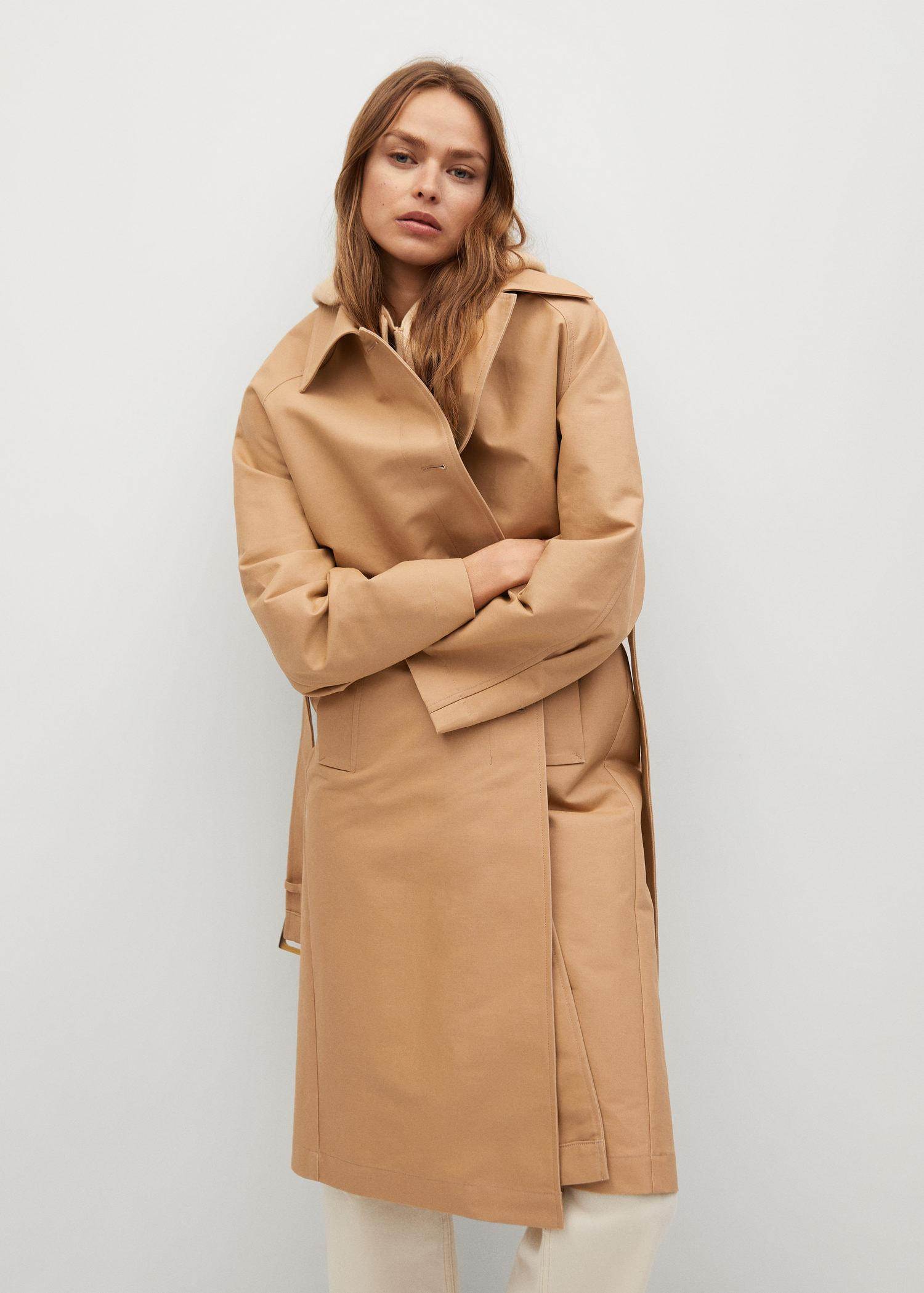 Water-repellent cotton trench